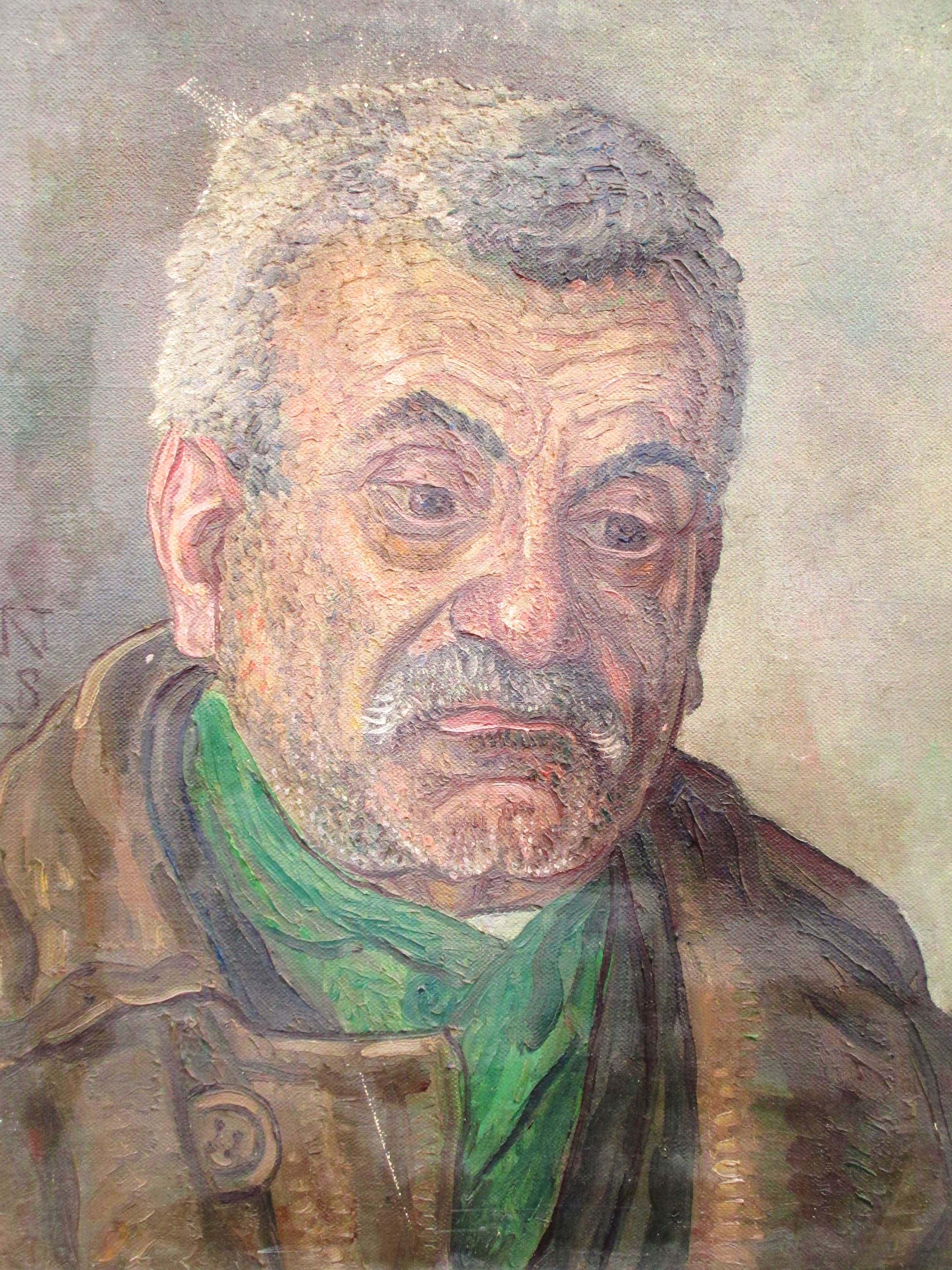 Jakob Nieweg - Portret man met baard en sjaal - Olieverf op doek 1928 kopen? Bied vanaf 250!