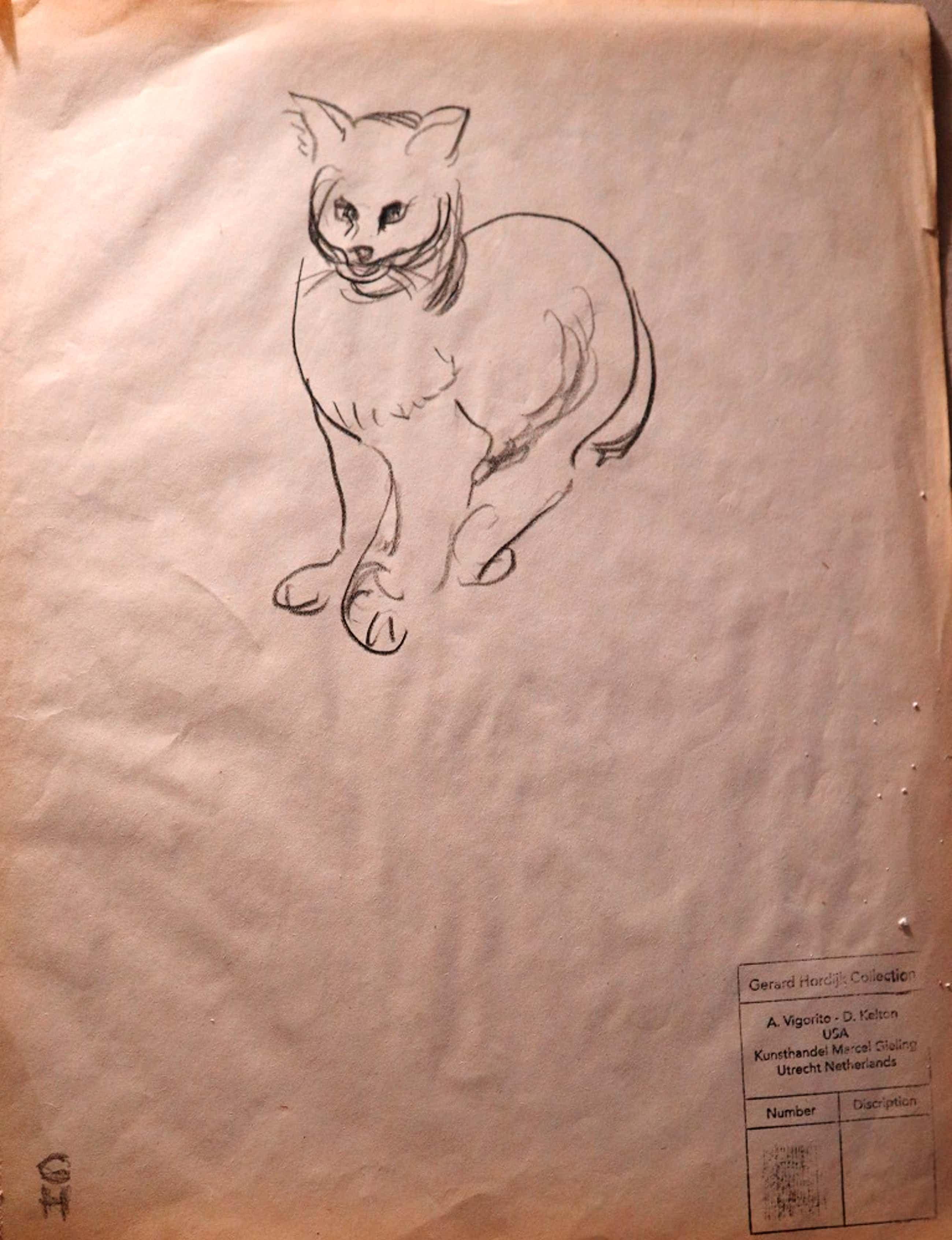 Gerard Hordijk - studie van katten kopen? Bied vanaf 1!