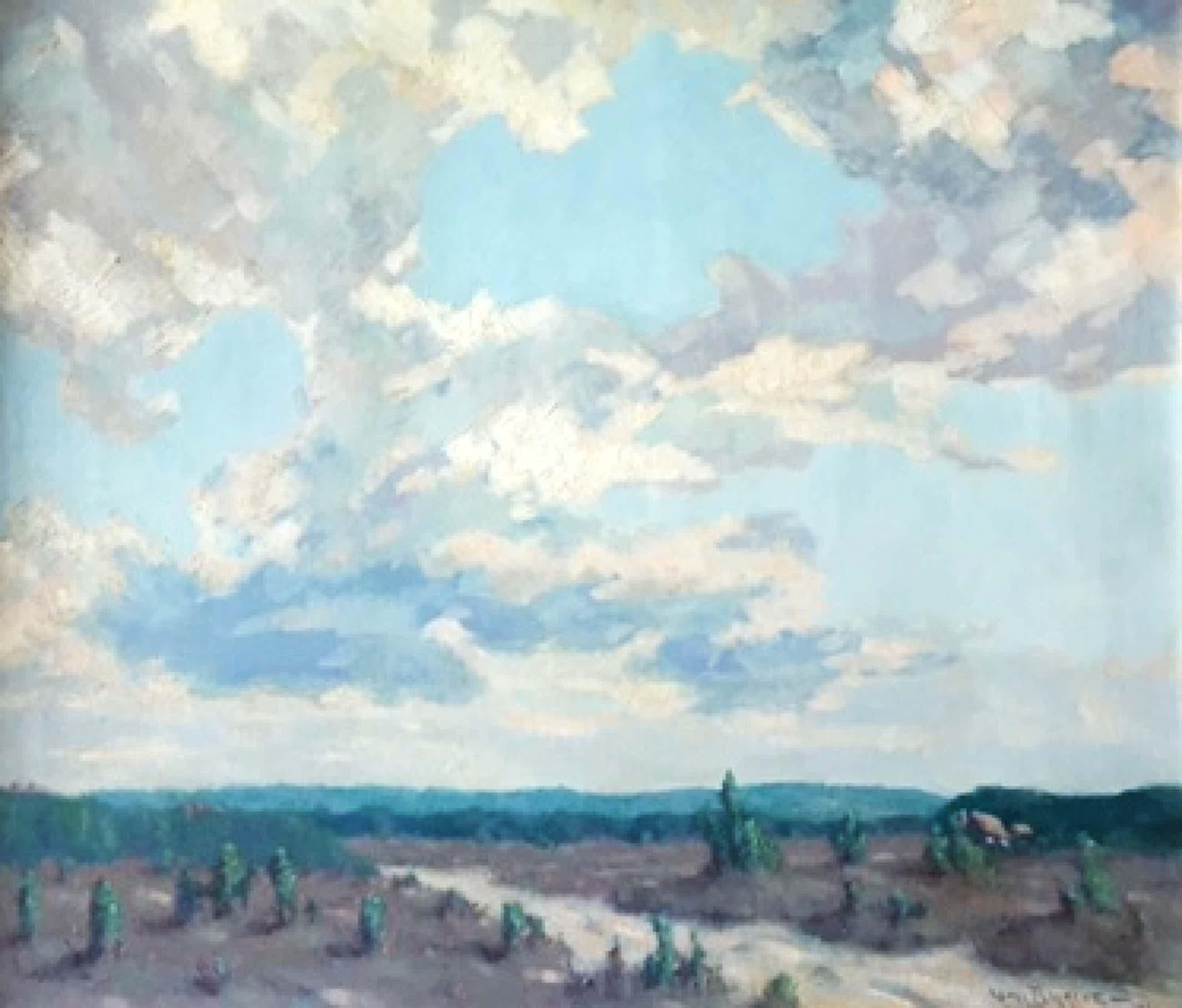 Valentine Hobson - uitgestrekt landschap in vermoedelijk Frankrijk kopen? Bied vanaf 195!