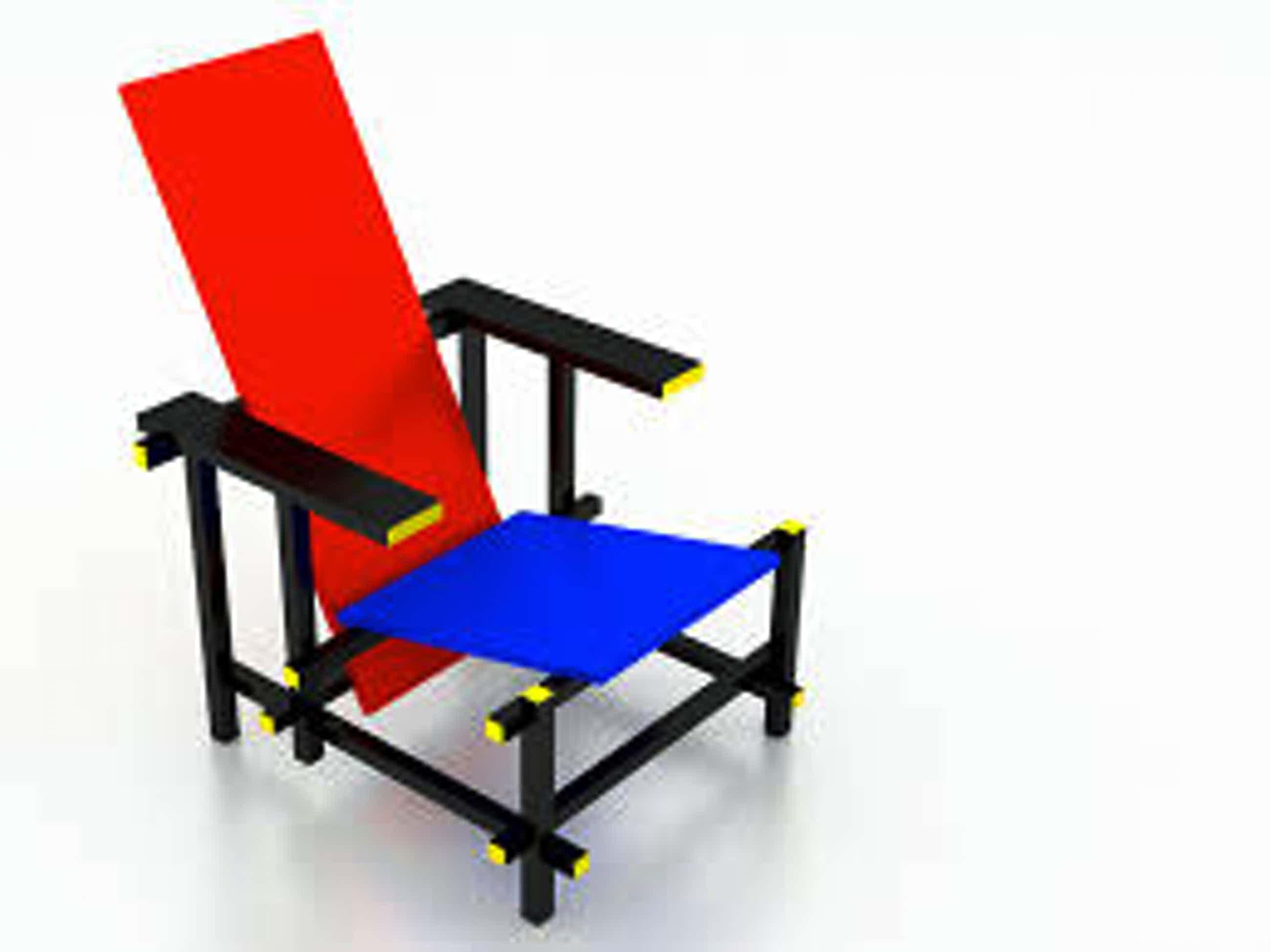 Gerrit Rietveld - Modelbouwpakket Rood-blauwe leunstoel schaal 1:6 kopen? Bied vanaf 69!