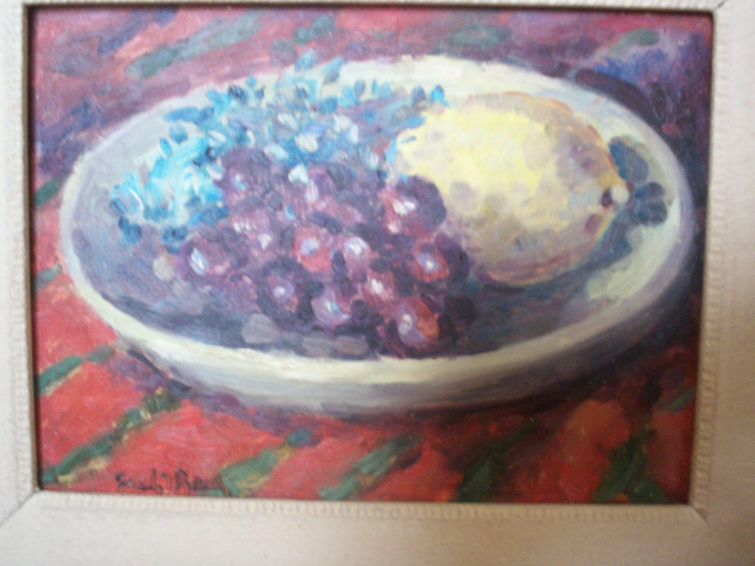 Freek van den Berg - Schaaltje met citroen en druiven kopen? Bied vanaf 700!