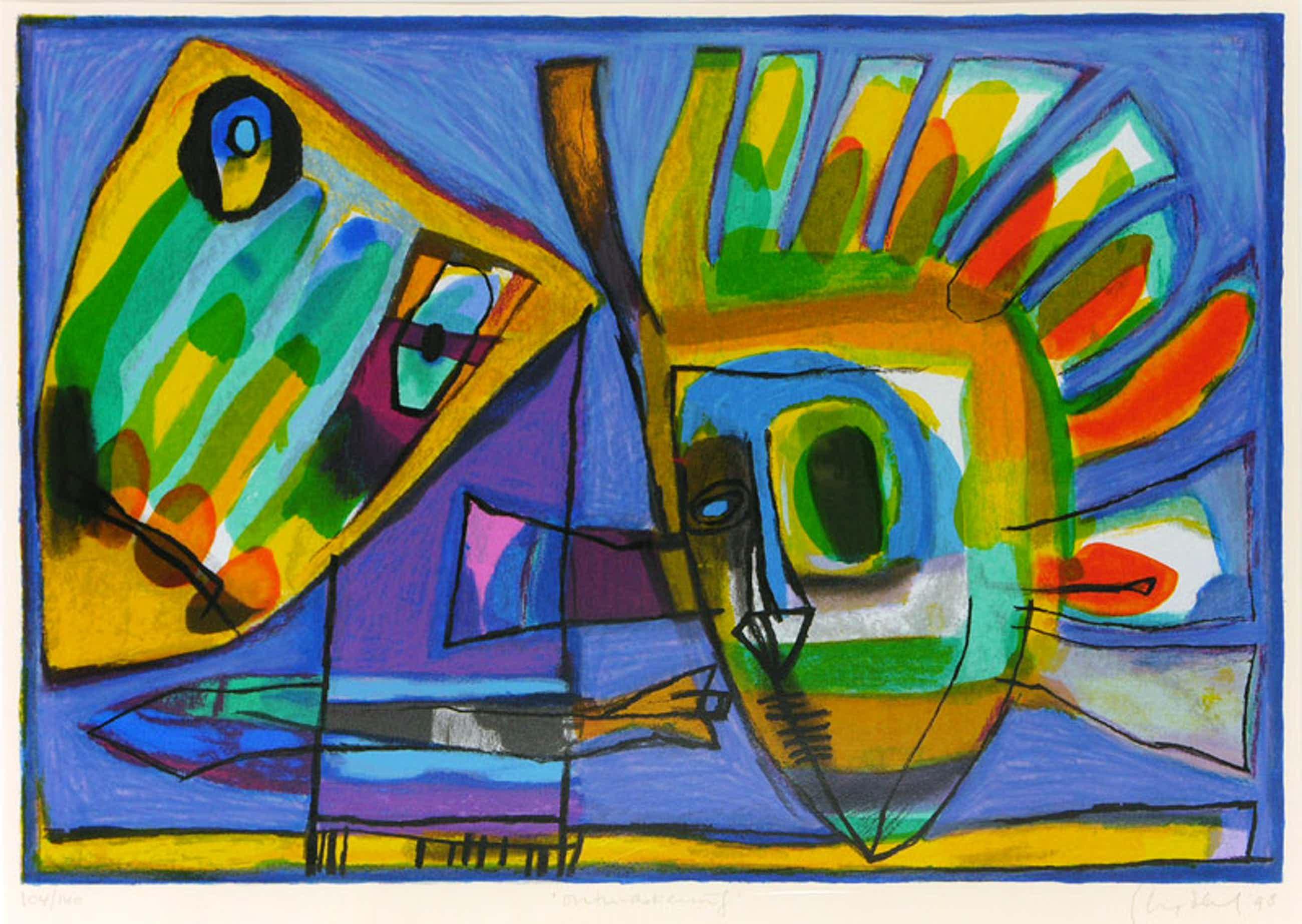 Geert Vrijdag - Kleurenzeefdruk ONTMASKERING ---GEEN BEZORGKOSTEN IN NED!!! kopen? Bied vanaf 175!