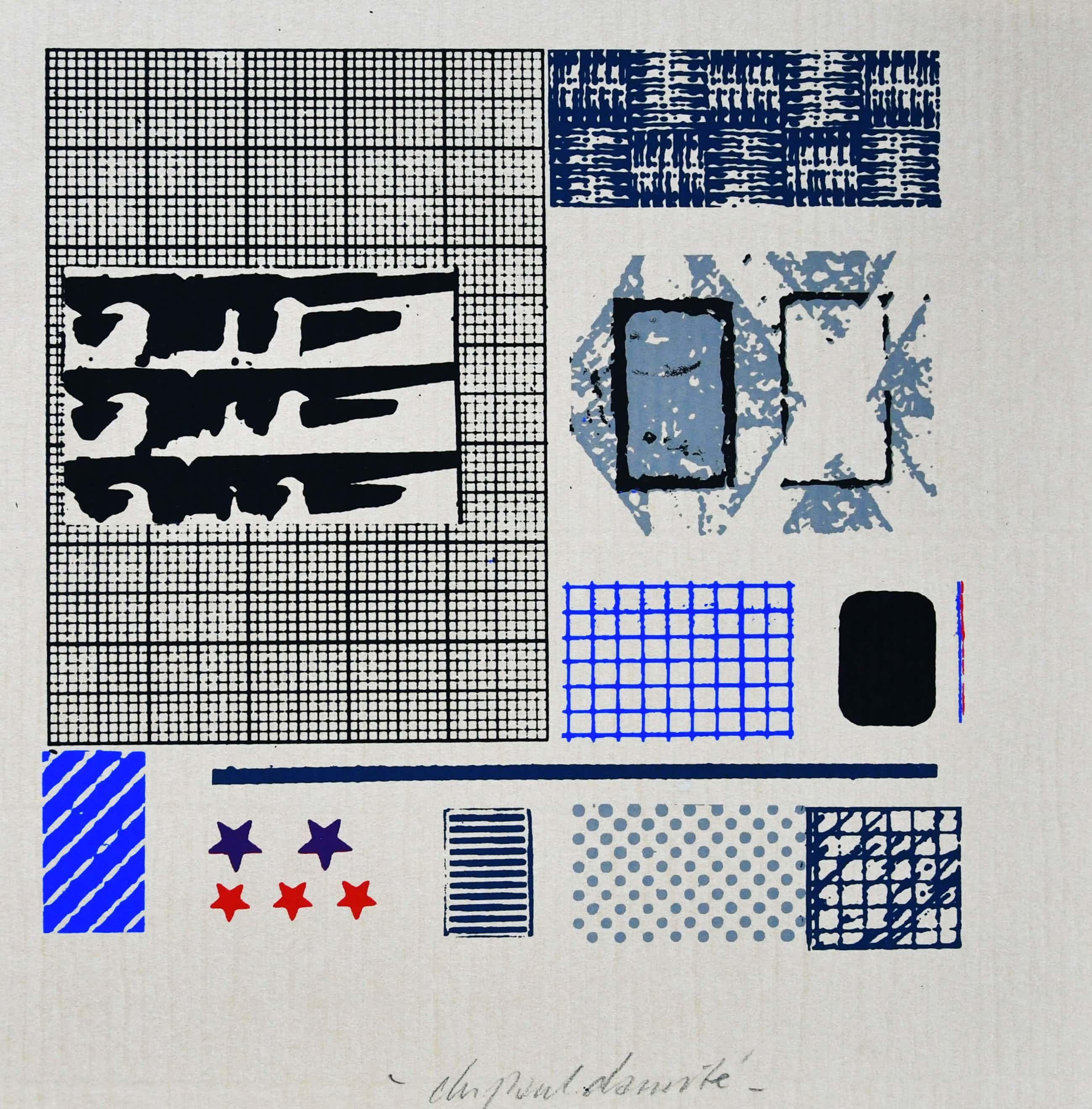 Christiaan Paul Damste - # ZEEFDRUK, Zonder titel # ca. 1983, gesigneerd, mint kopen? Bied vanaf 35!