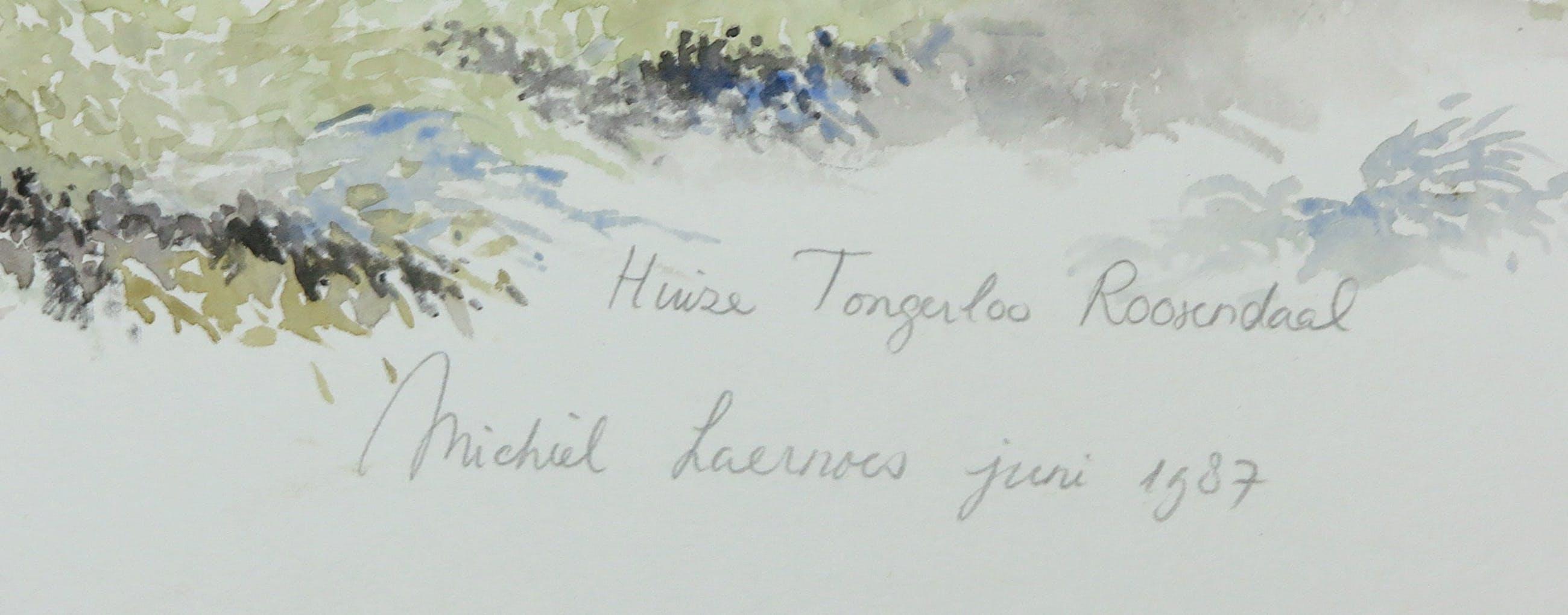 Michiel Laernoes - Aquarel, Huize Tongerloo Roosendaal kopen? Bied vanaf 1!