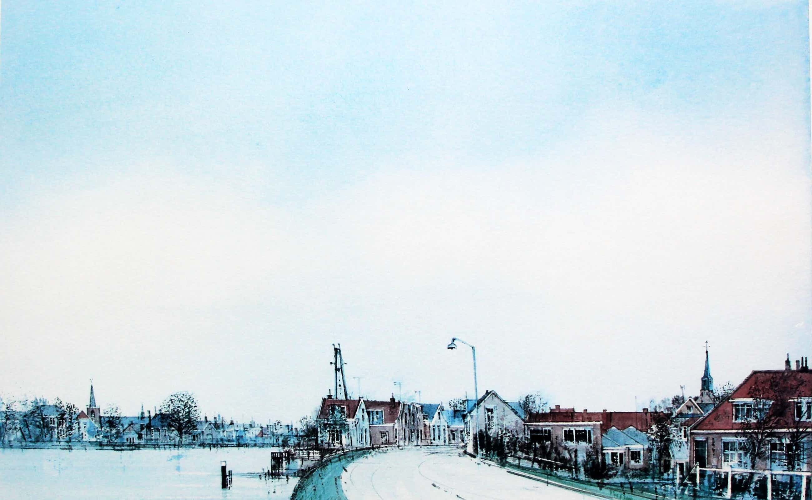 Ciano Siewert - Litho: Hollands landschap kopen? Bied vanaf 50!