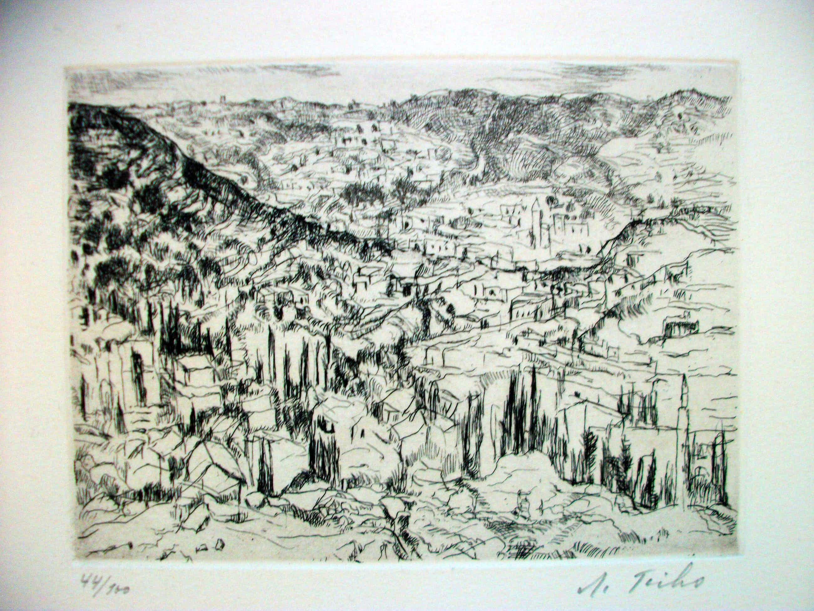 Anna Ticho - Jerusalem, Radierung auf Bütten, Signiert u.r.: A Ticho kopen? Bied vanaf 350!
