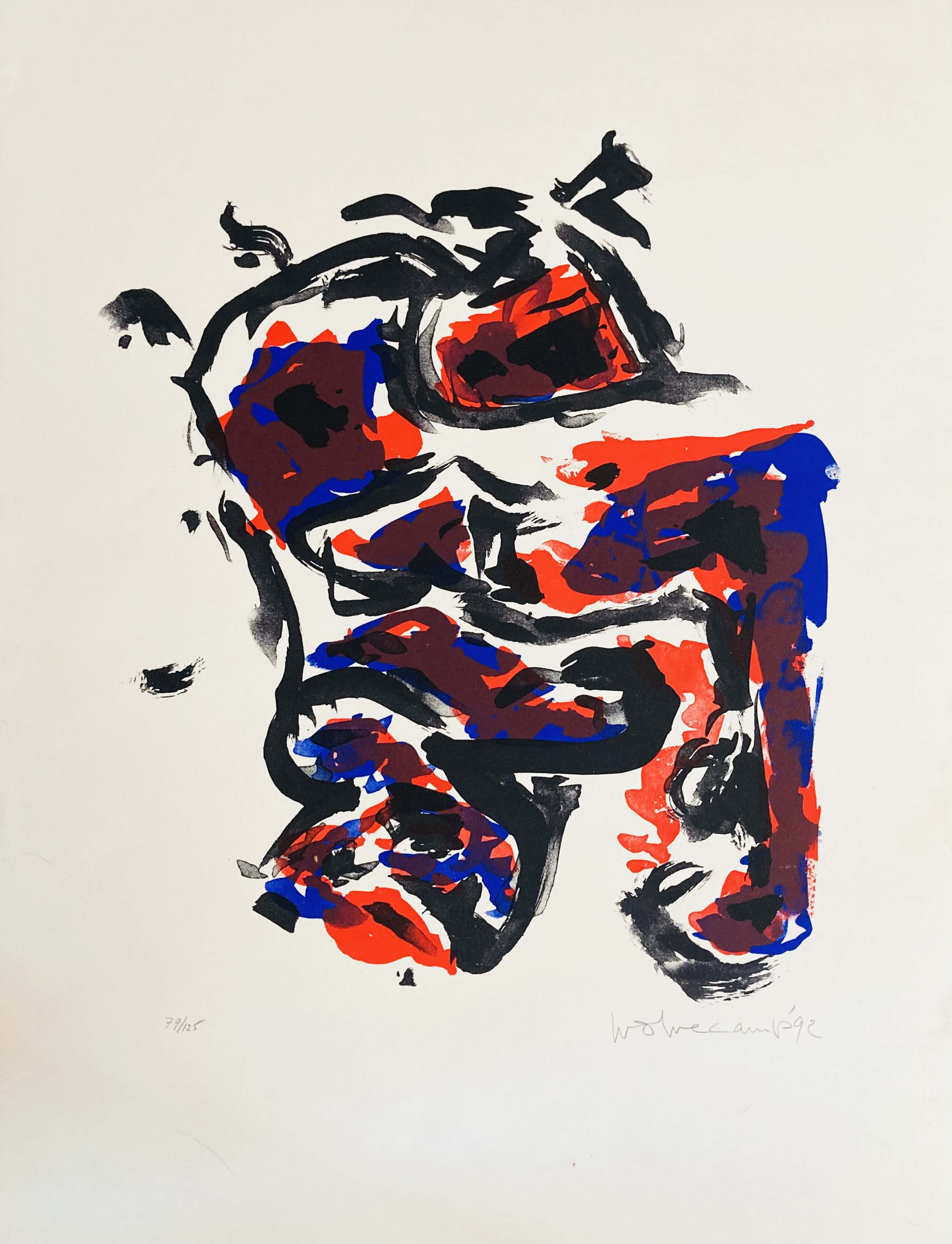 Theo Wolvecamp - Abstracte compositie kopen? Bied vanaf 120!
