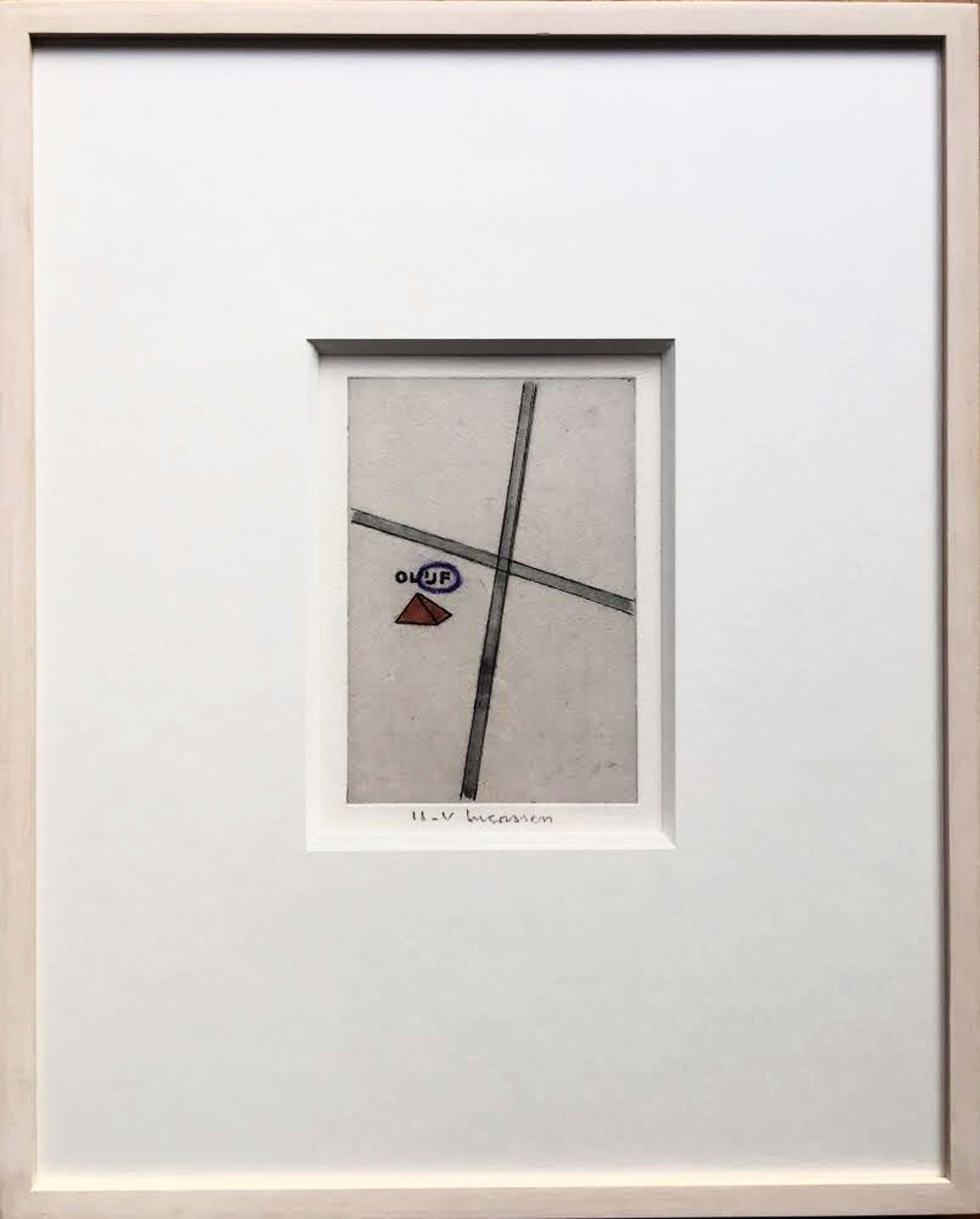 Reinier Lucassen - ets met aquarel 'Olijf' - oplage II-V - ingelijst. kopen? Bied vanaf 165!