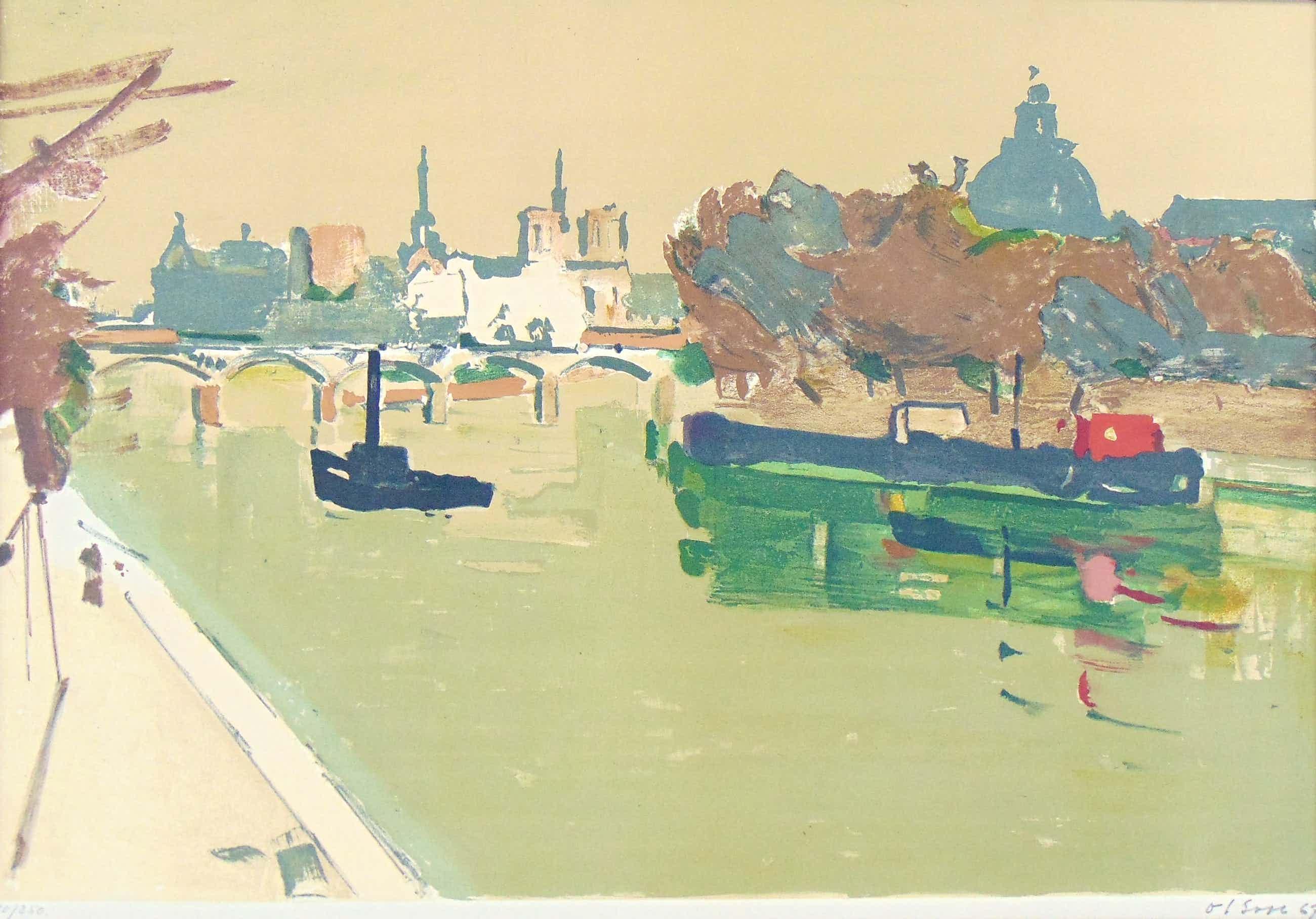 Ove Nils Olson - Looking across the Seine kopen? Bied vanaf 45!