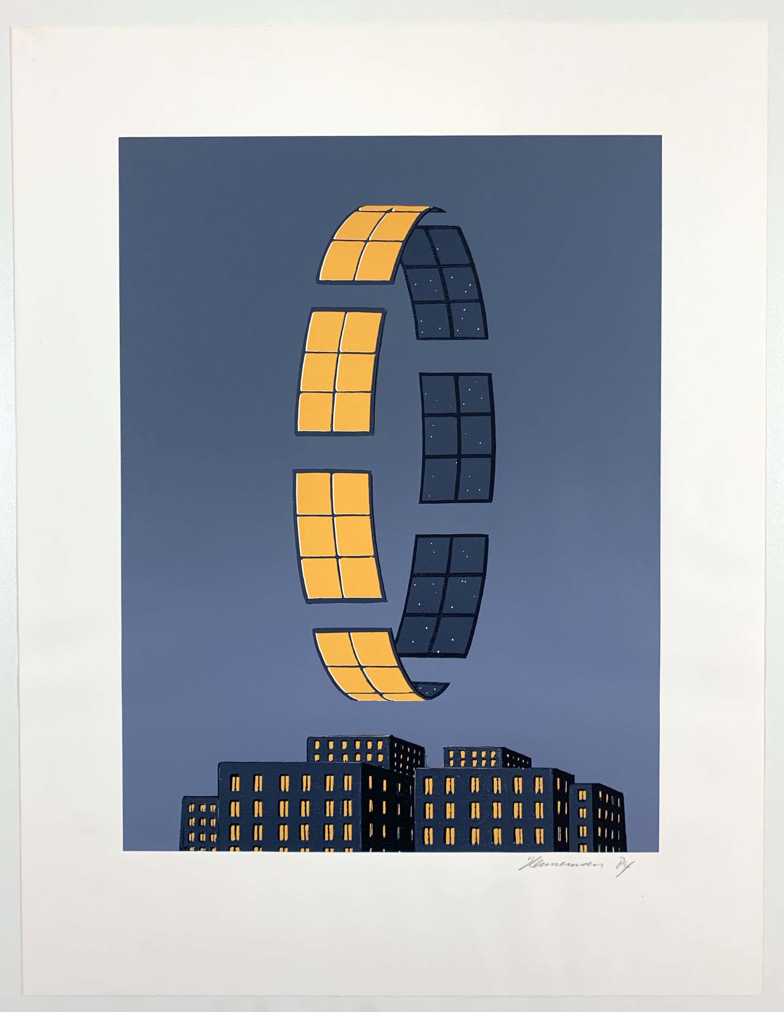 Jeroen Henneman - kleurenzeefdruk - 'De ochtend' - uitgave Het Dagelijks Leven -1987 kopen? Bied vanaf 140!