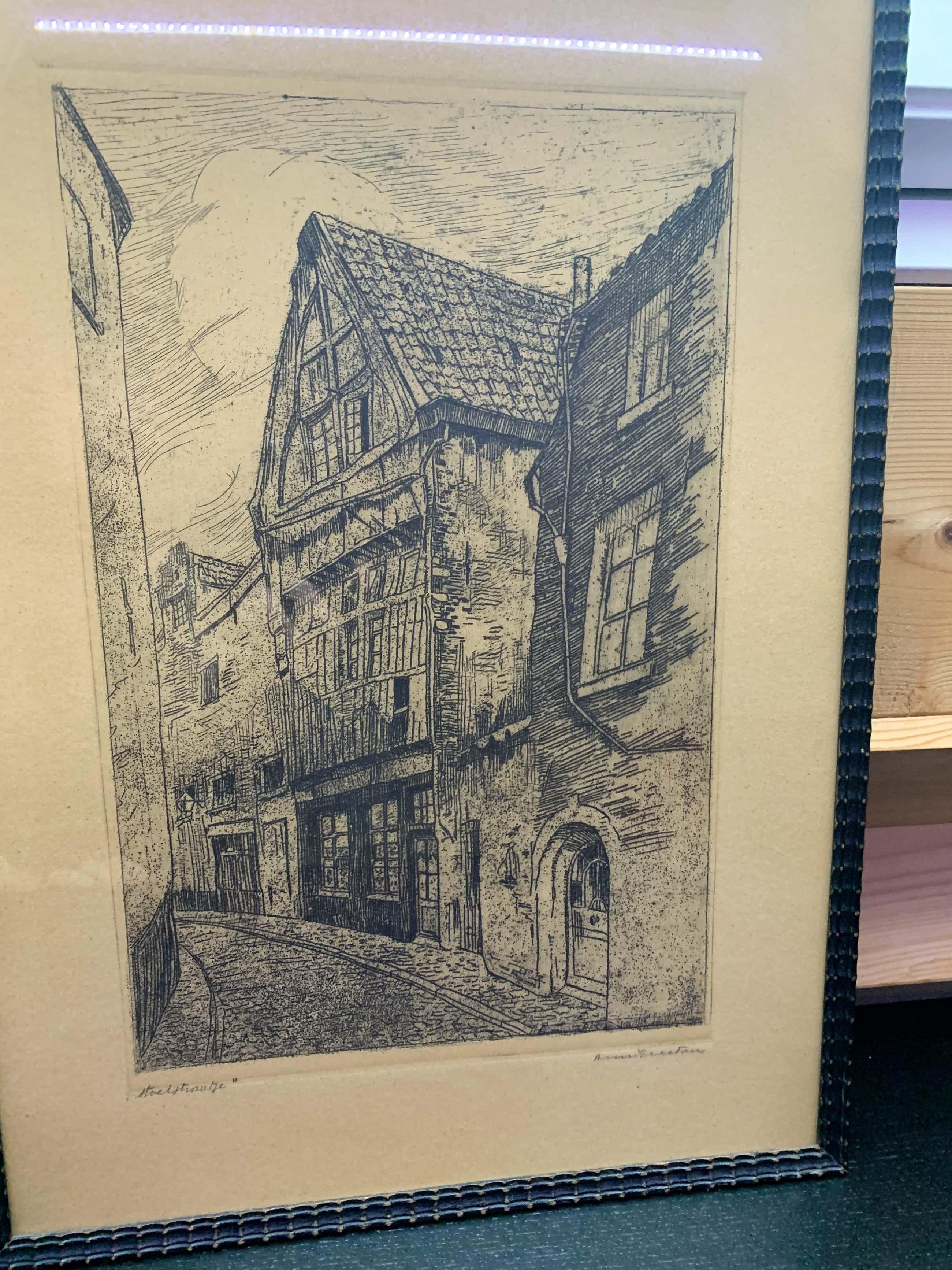 Henri Geertsen - Straatje in het oude Antwerpen kopen? Bied vanaf 20!