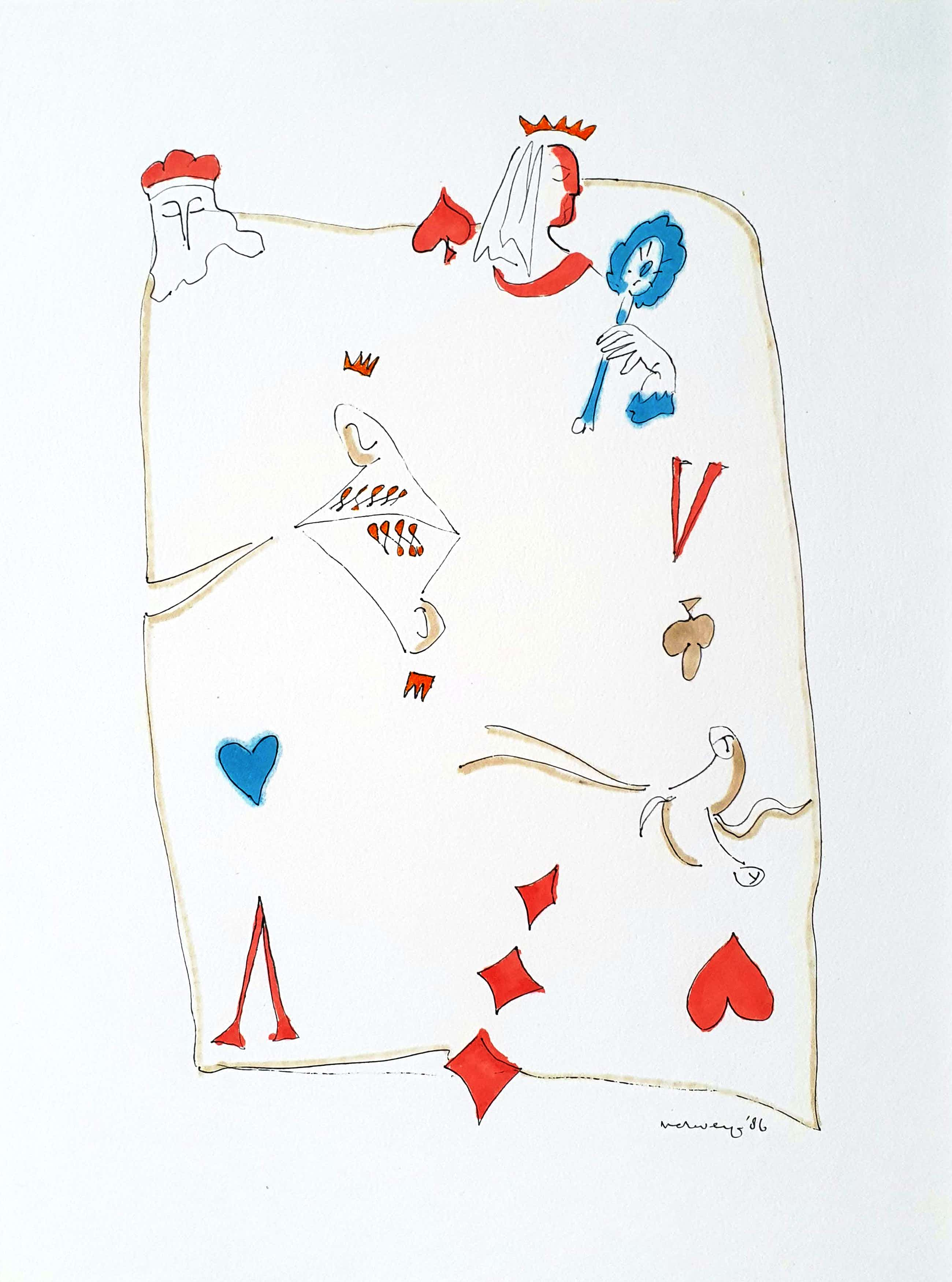 Hans Verweij - Luxe editie portfolio met 4 Litho's, een originele tekening en gedicht. kopen? Bied vanaf 95!