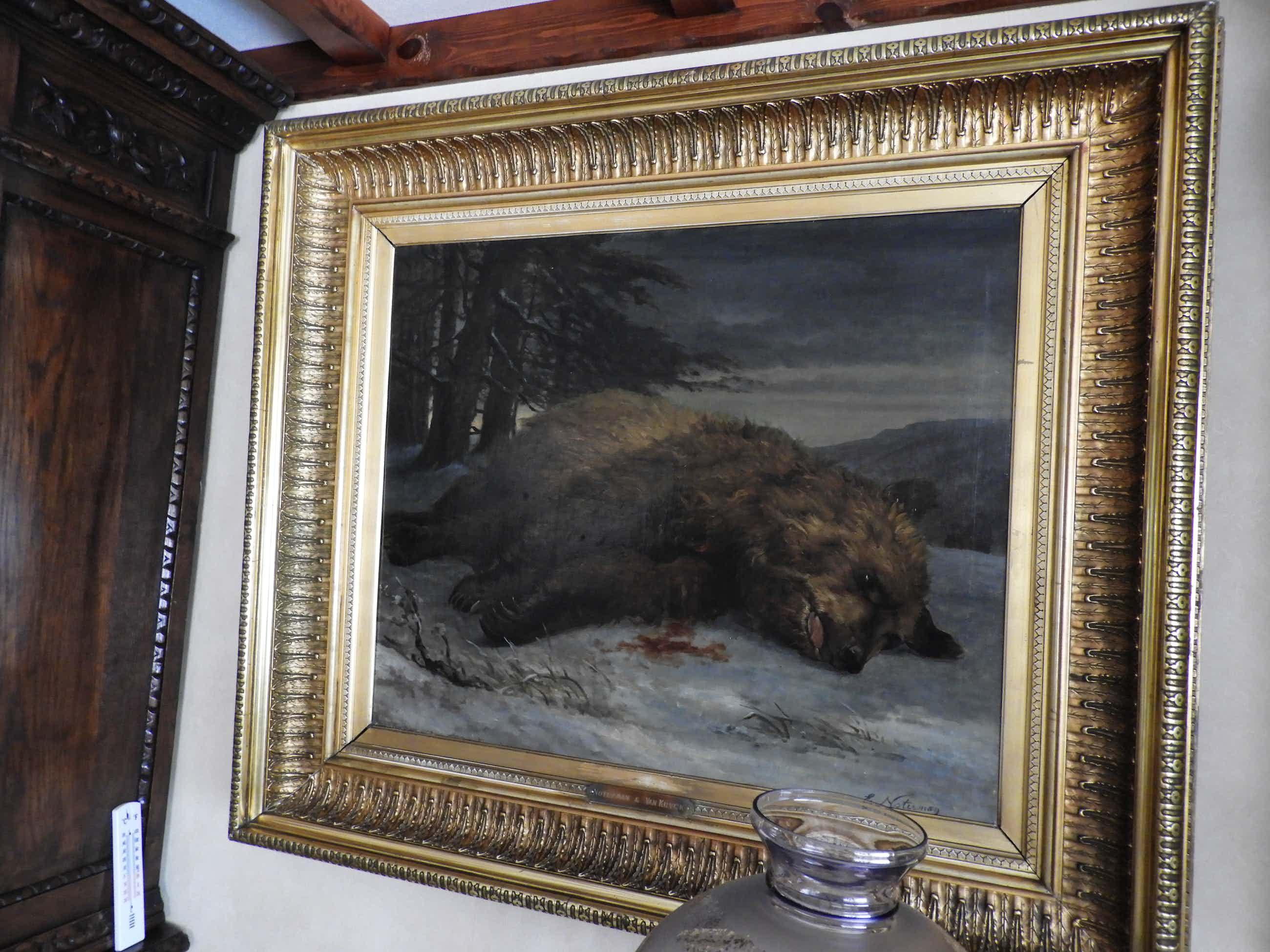Emmanuel Noterman - schilderij op doek gewonde beer Noterman&VanKuyck kopen? Bied vanaf 1950!