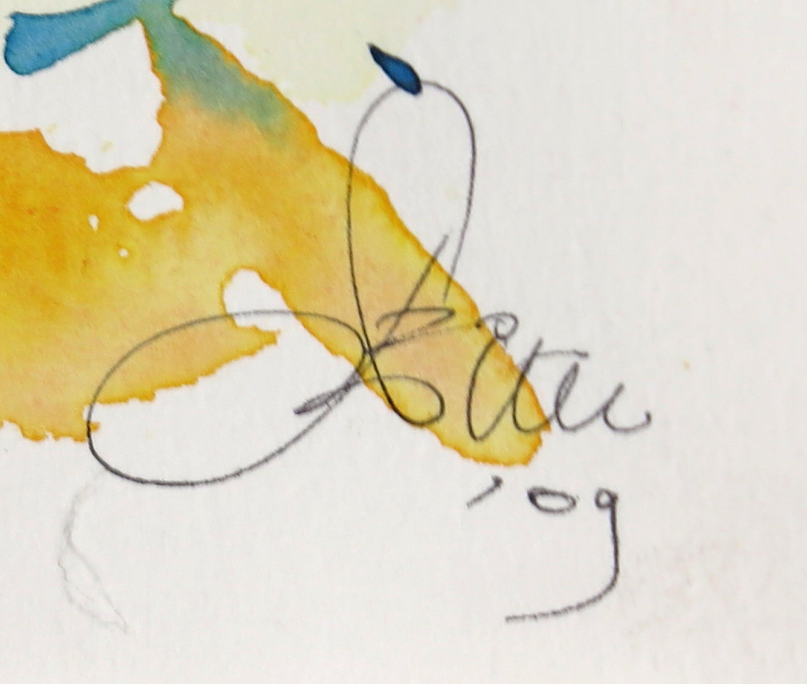 Franscz Witte - Acryl op papier, Malta 7 - Ingelijst kopen? Bied vanaf 1!