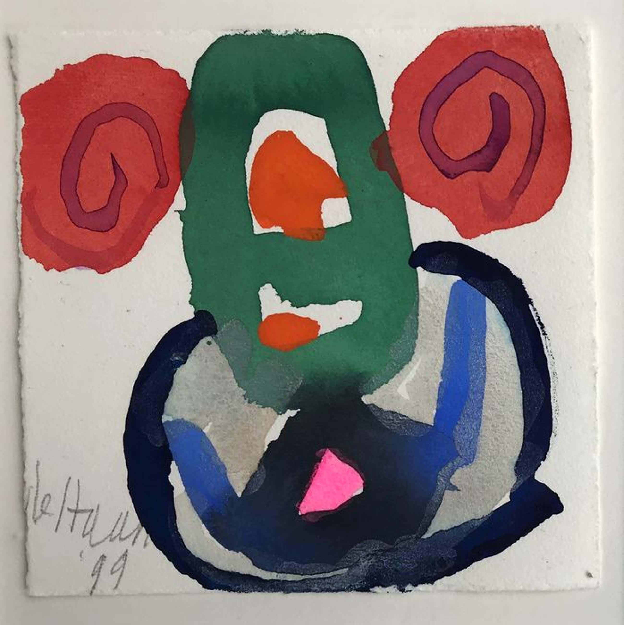 Jurjen de Haan - - Aquarel - abstract - 1999- ingelijst kopen? Bied vanaf 80!