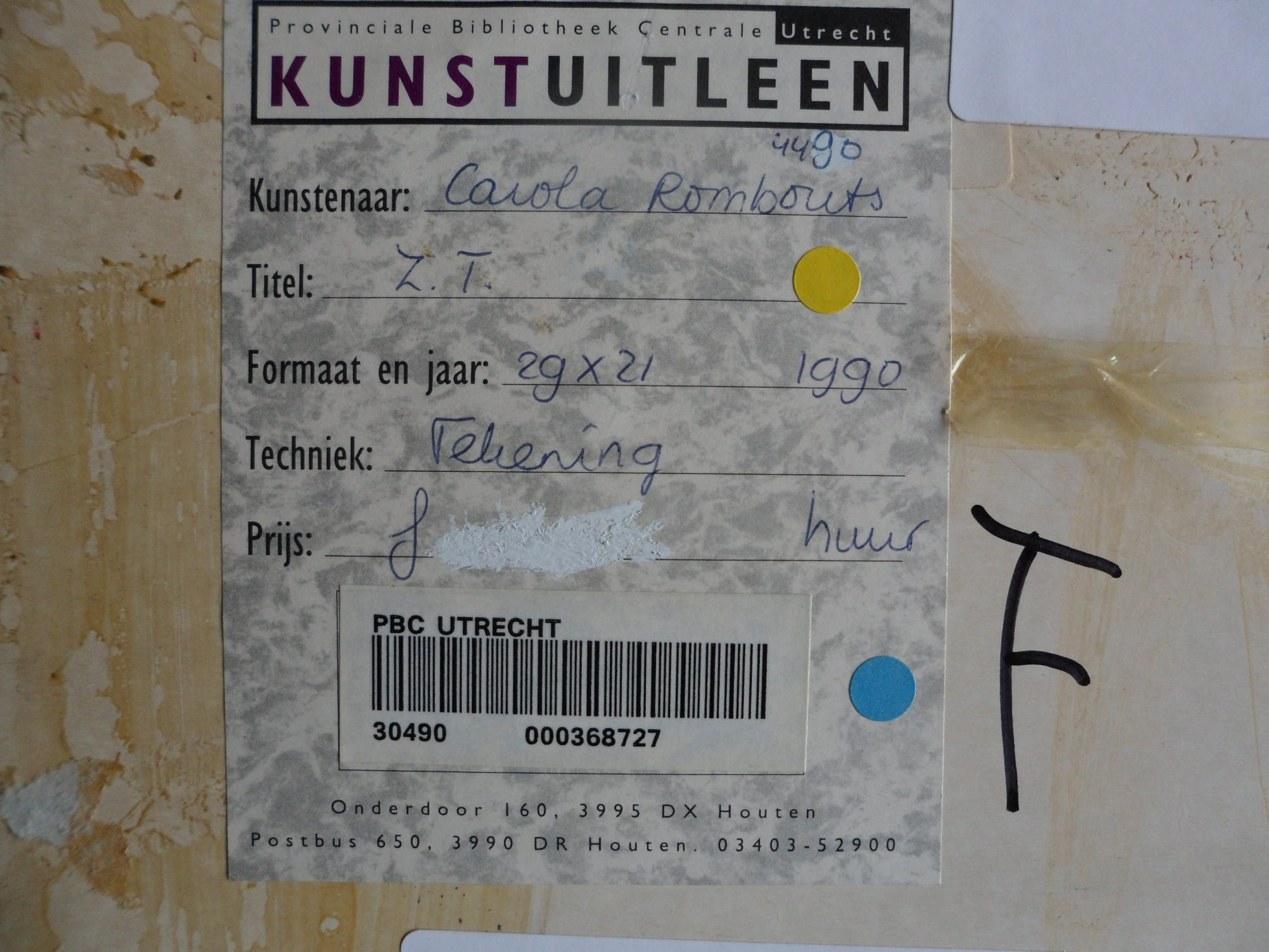 Carola Rombouts - Pastel/ krijt, Zonder titel - Ingelijst kopen? Bied vanaf 20!