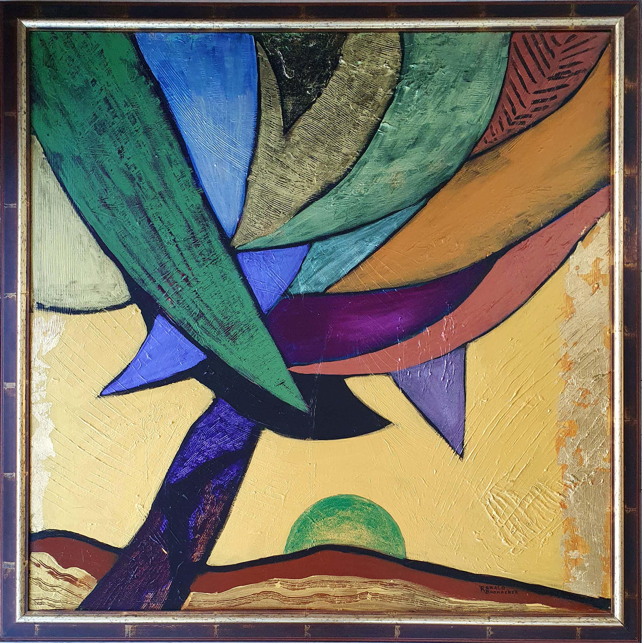 Ronald Boonacker - Schilderij: 'Royal palm' - Groot kopen? Bied vanaf 265!