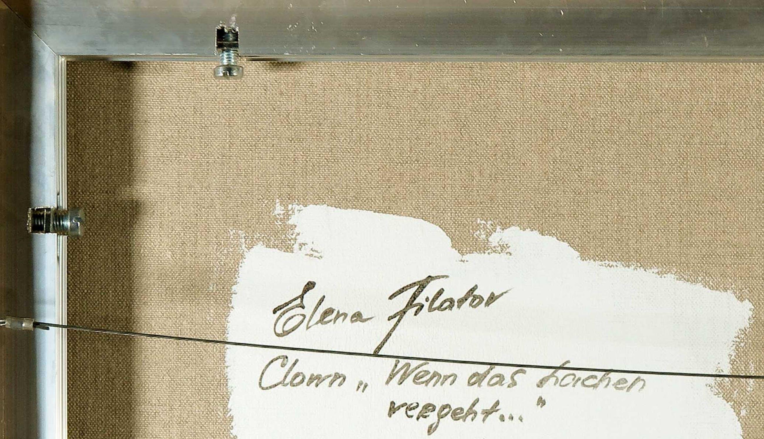 "Elena Filatov - Polygrafiek op doek, Clown ""Wenn das lachen vergeht"" (Groot) kopen? Bied vanaf 1!"