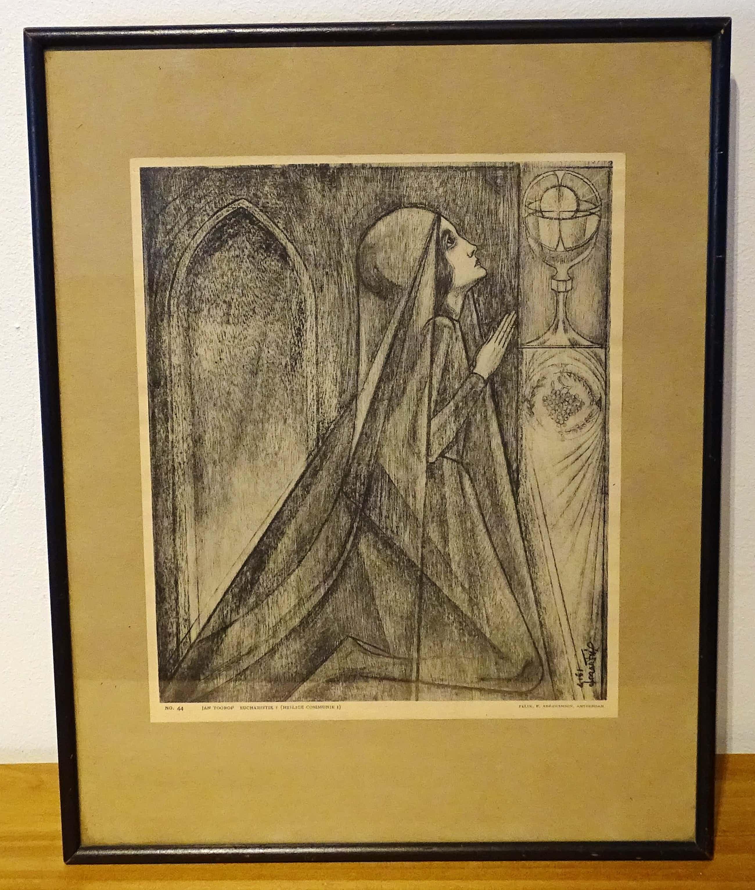 Jan Toorop - Eucharistie (Heilige Communie) kopen? Bied vanaf 60!