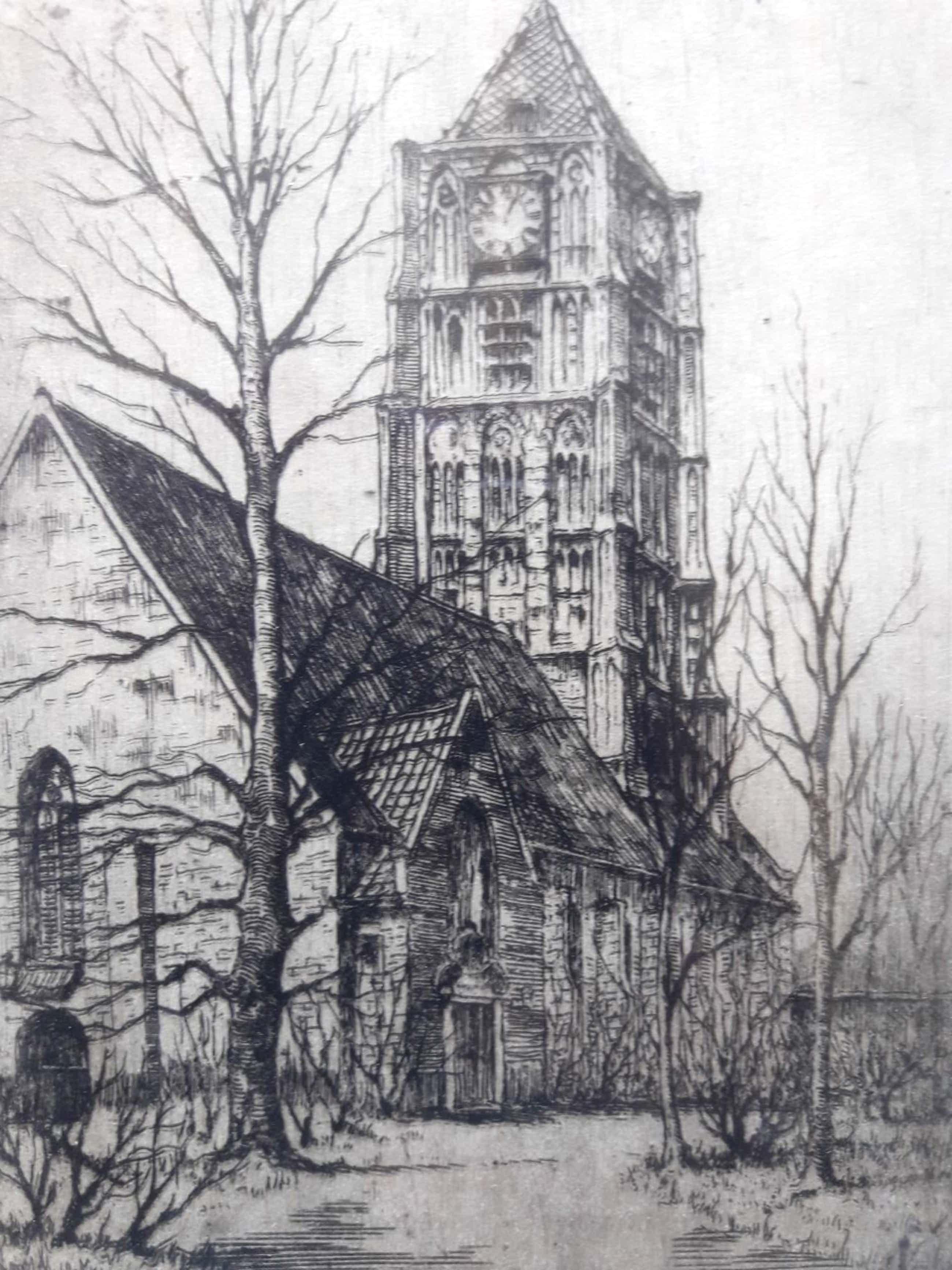 Marius Johannes Janssen - Grote kerk in Tiel. kopen? Bied vanaf 39!