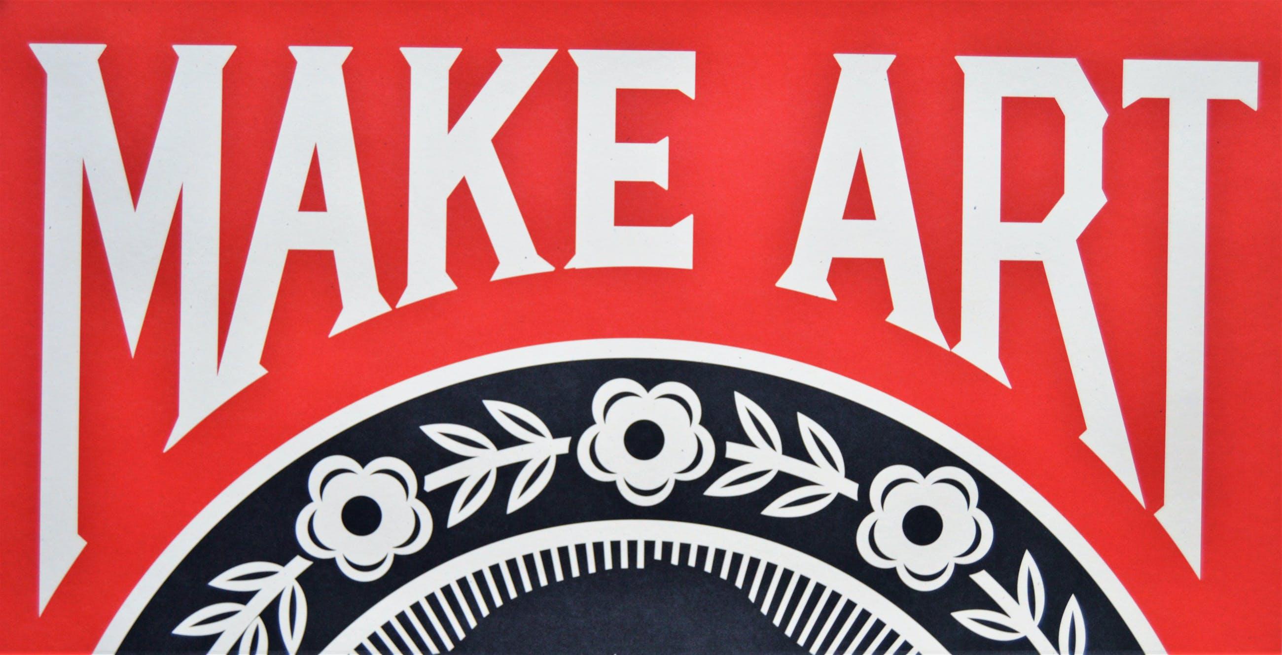 Shepard Fairey - MAKE ART NOT WAR - gesigneerd kopen? Bied vanaf 80!