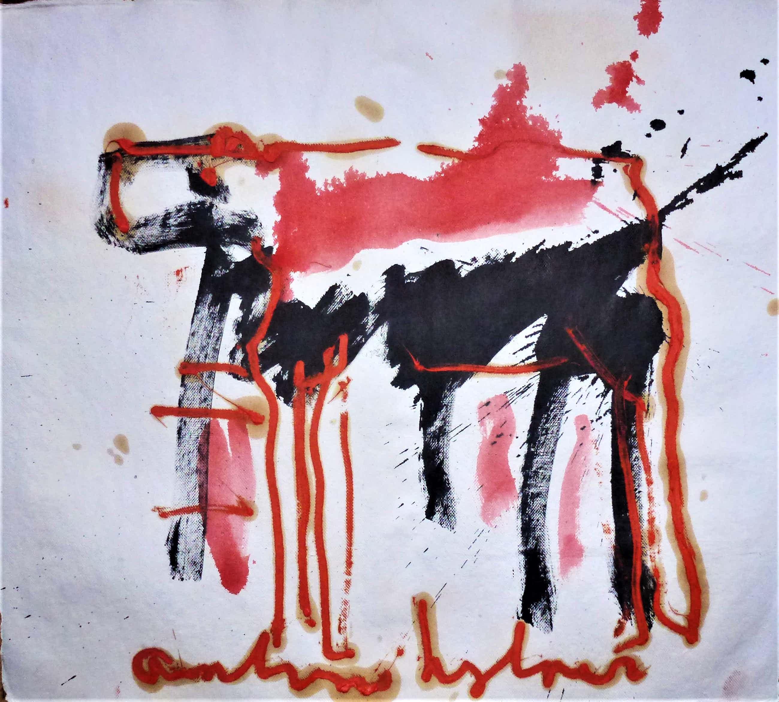 Anton Heyboer - Het dier Krachtige schildering . kopen? Bied vanaf 250!
