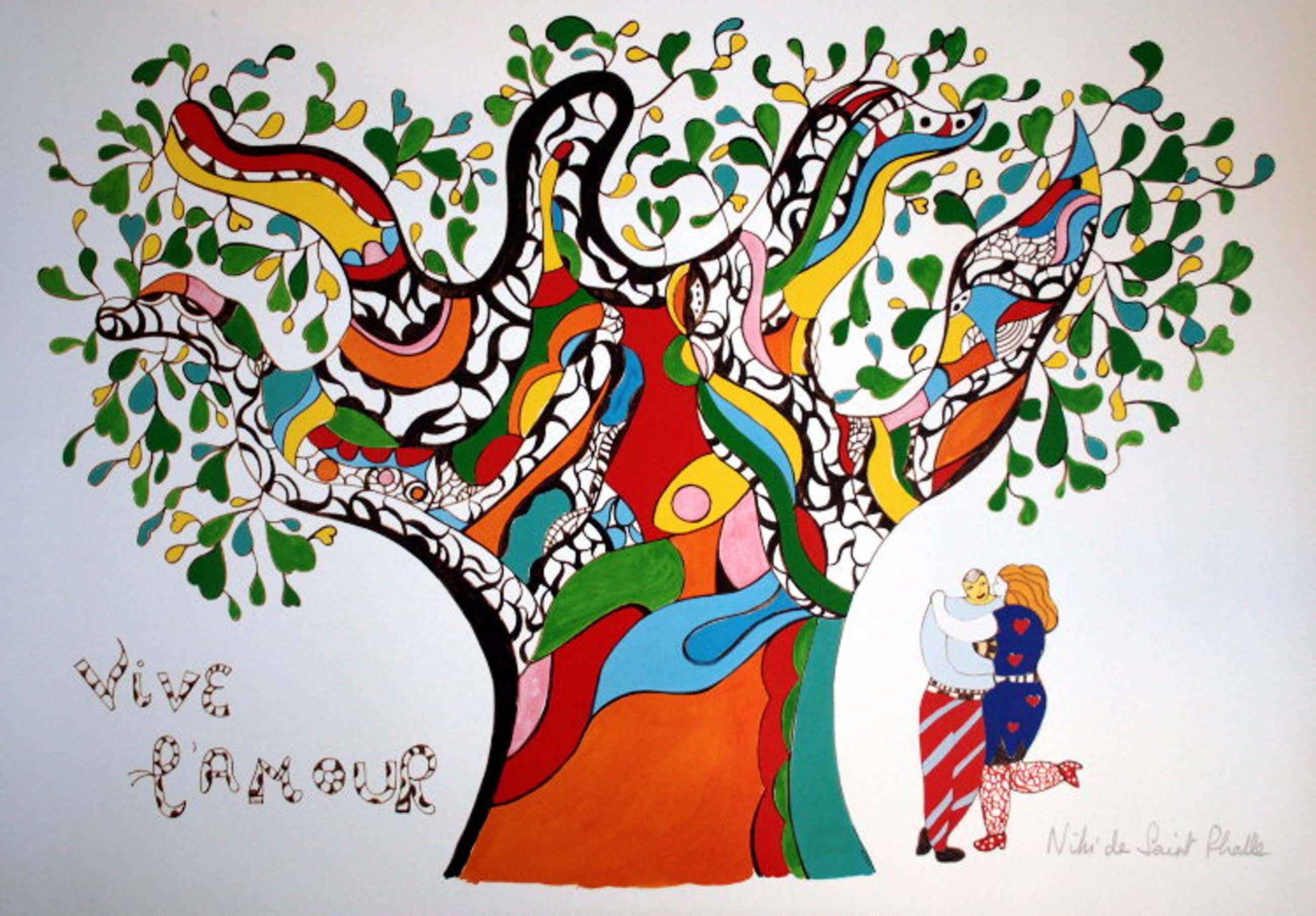 Niki de Saint-Phalle - Vive l'amour, Poster kopen? Bied vanaf 250!