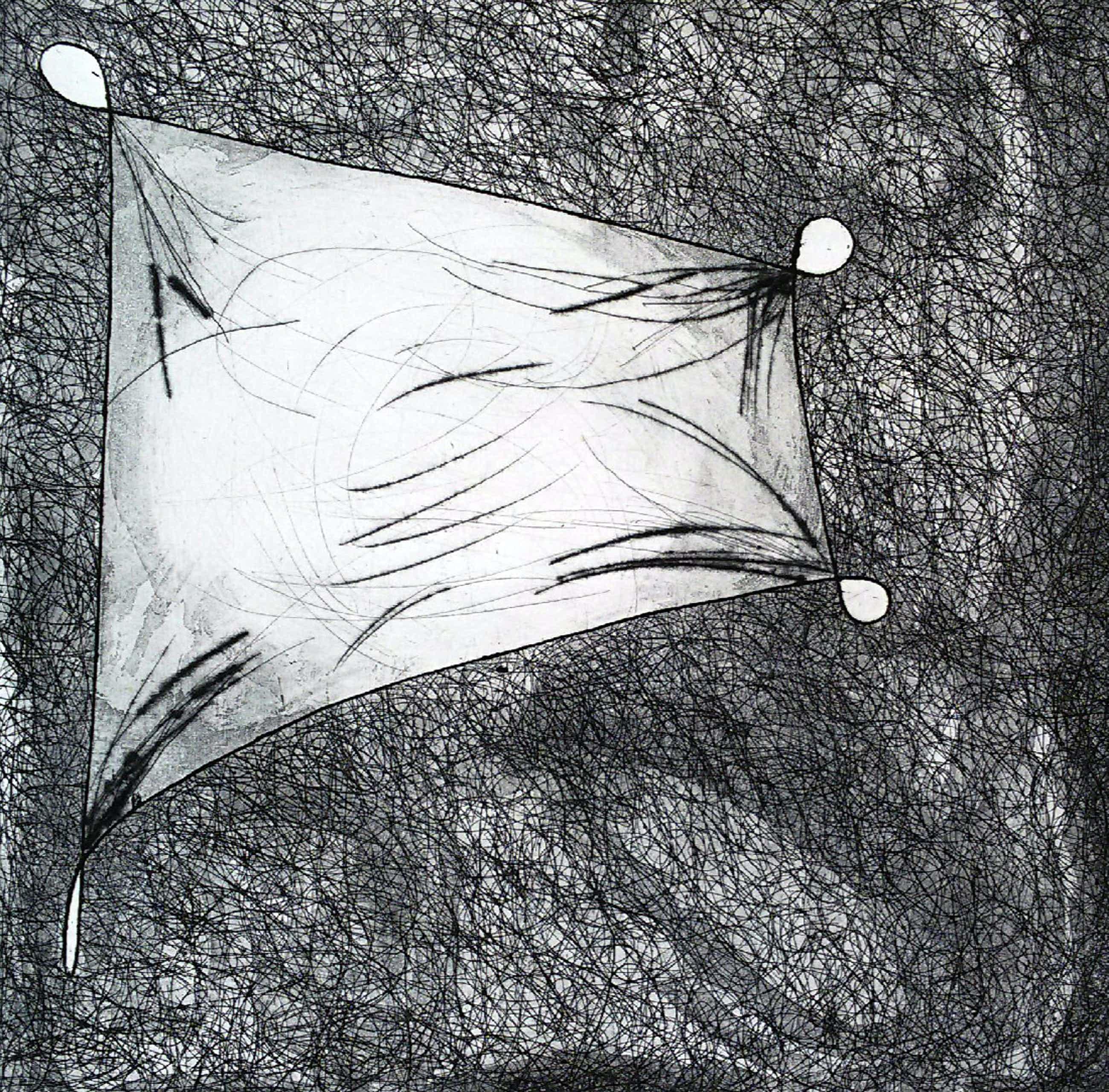 Henny van Leeuwen - Abstracte compositie, ets kopen? Bied vanaf 30!