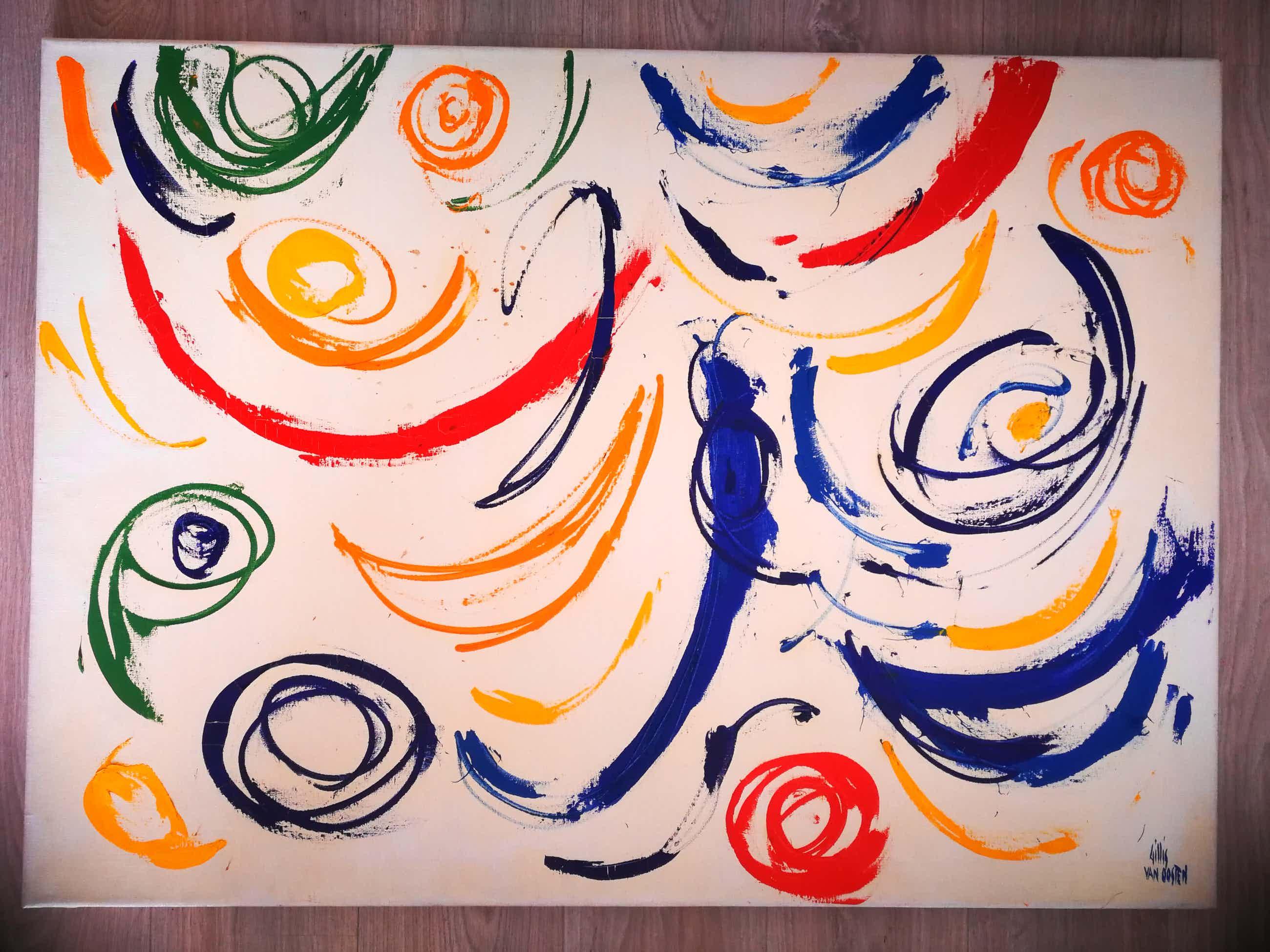 Gillis van Oosten - Abstract en kleurrijk. 1966 kopen? Bied vanaf 325!