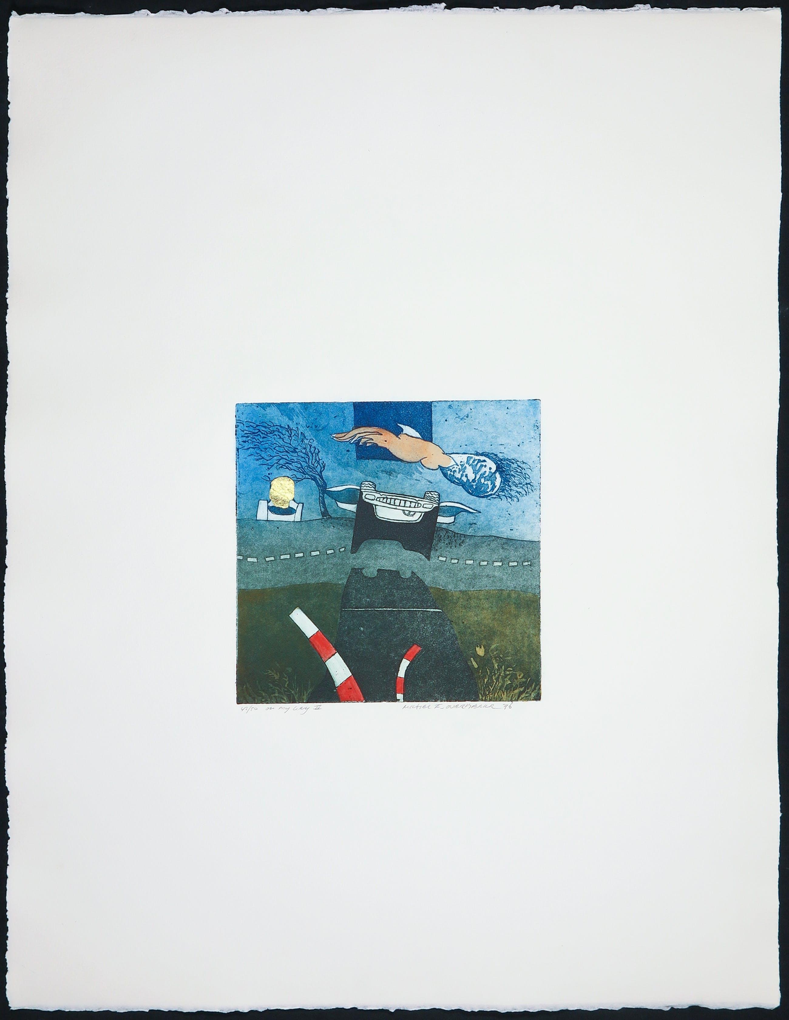 Michel van Overbeeke - Kleurenets met bladgoud, On my way II kopen? Bied vanaf 1!