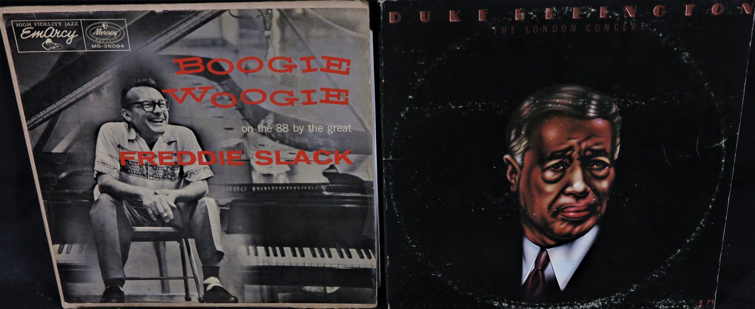 Various artists - 4 Jazz LP's: Lionel Hampton, Duke Ellington, Ray Charles, Freddie Slack kopen? Bied vanaf 10!