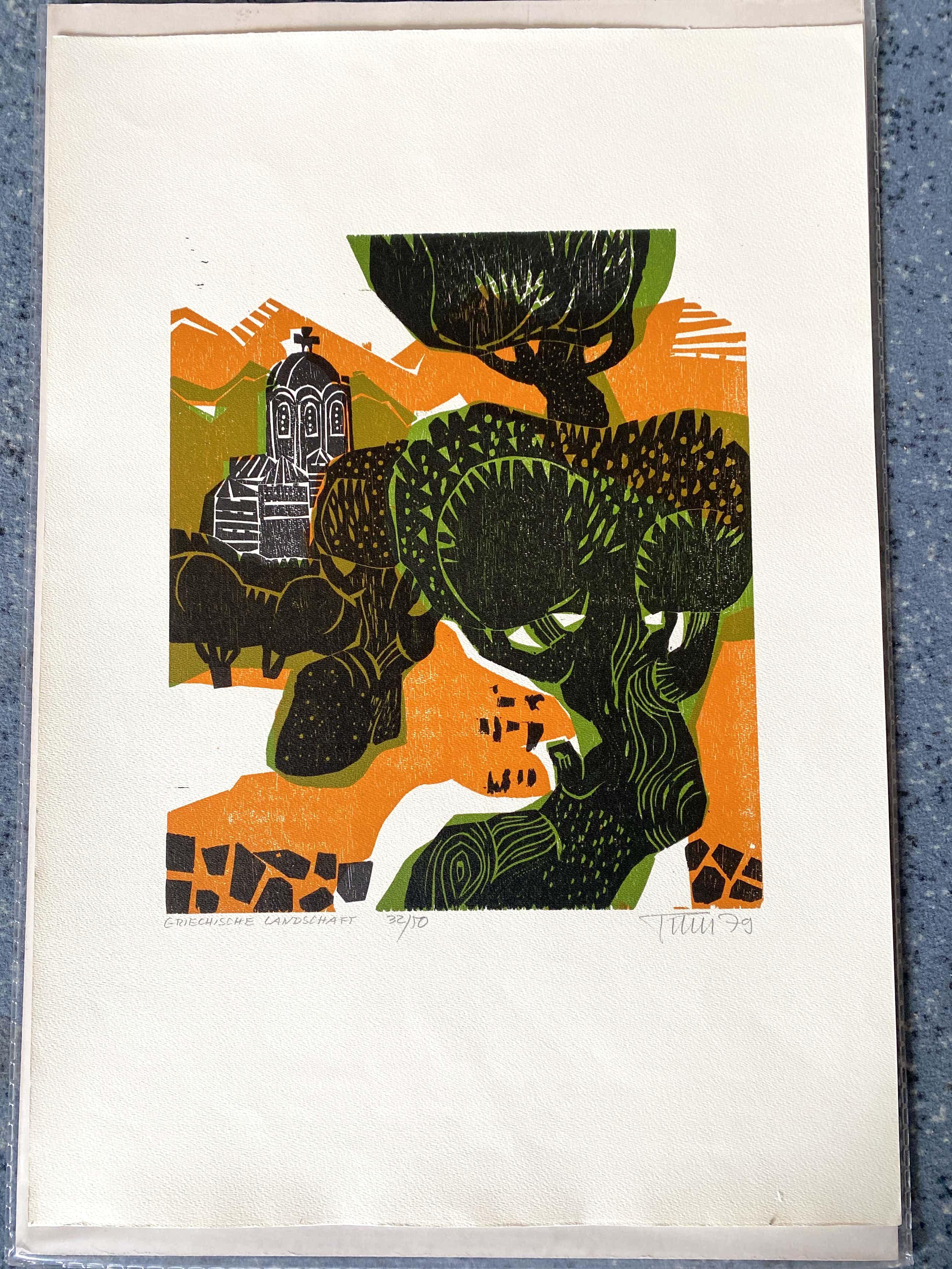 Alfred Pohl - Griechische Landschaft (1979) kopen? Bied vanaf 70!