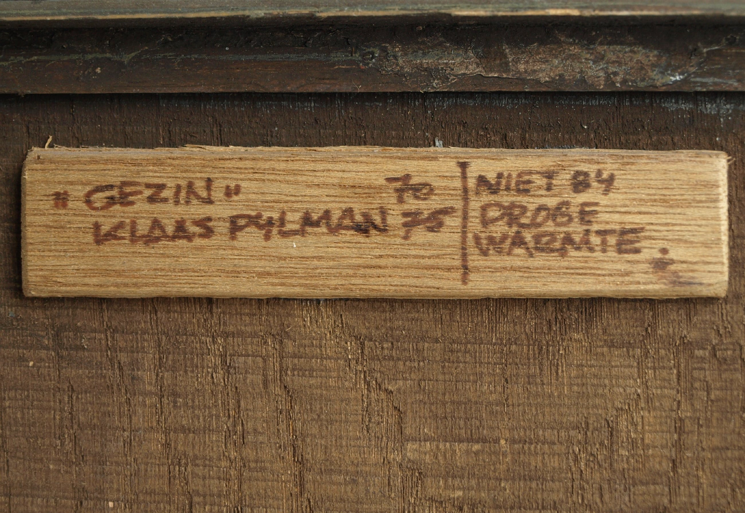 """Klaas Pijlman - Levensboom """"Gezin"""" - Wandplaquette van Chamotte – ca. 1970 kopen? Bied vanaf 1!"""