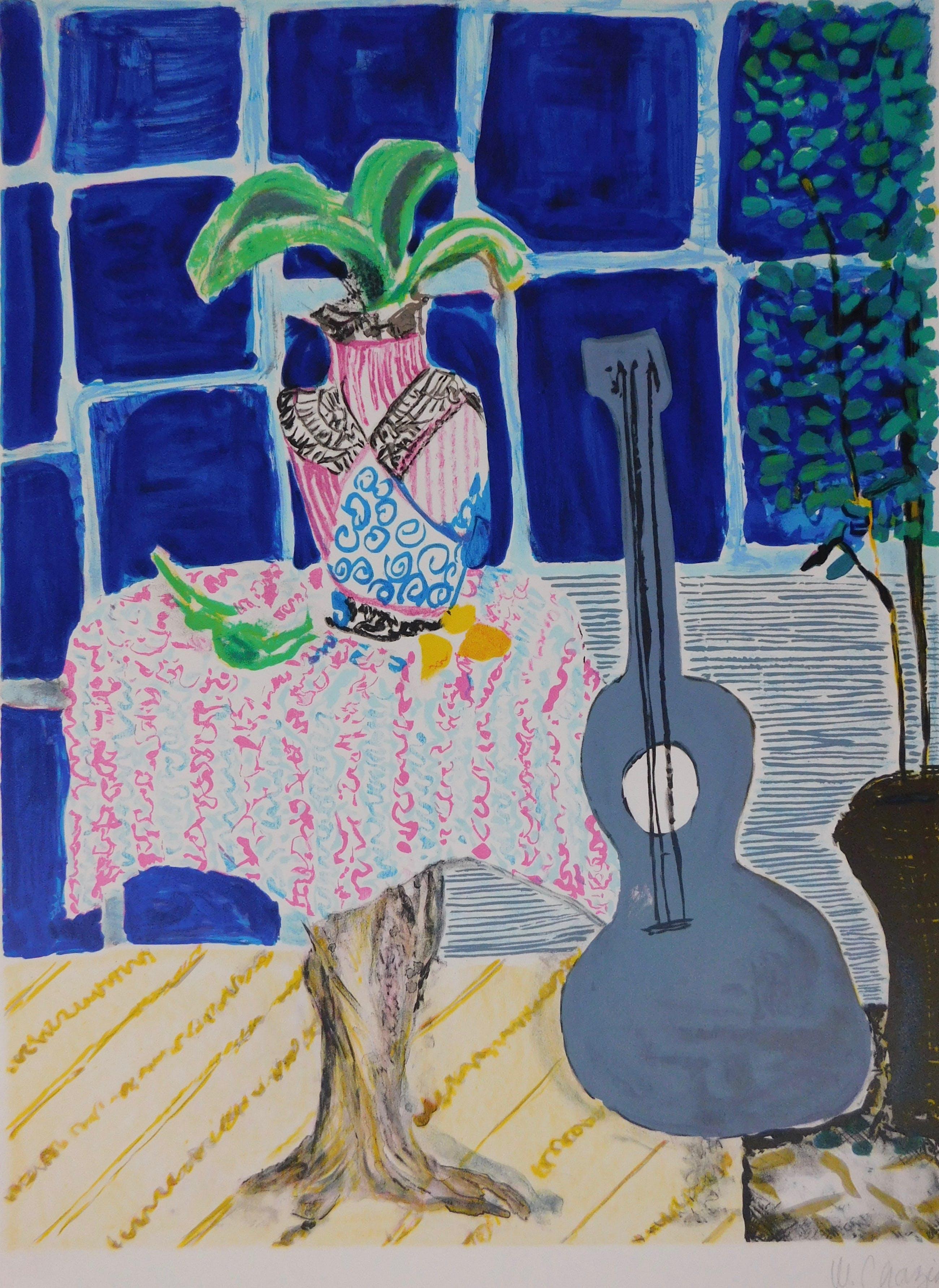Wendy Chazin - Composition with Guitar and Vase kopen? Bied vanaf 20!