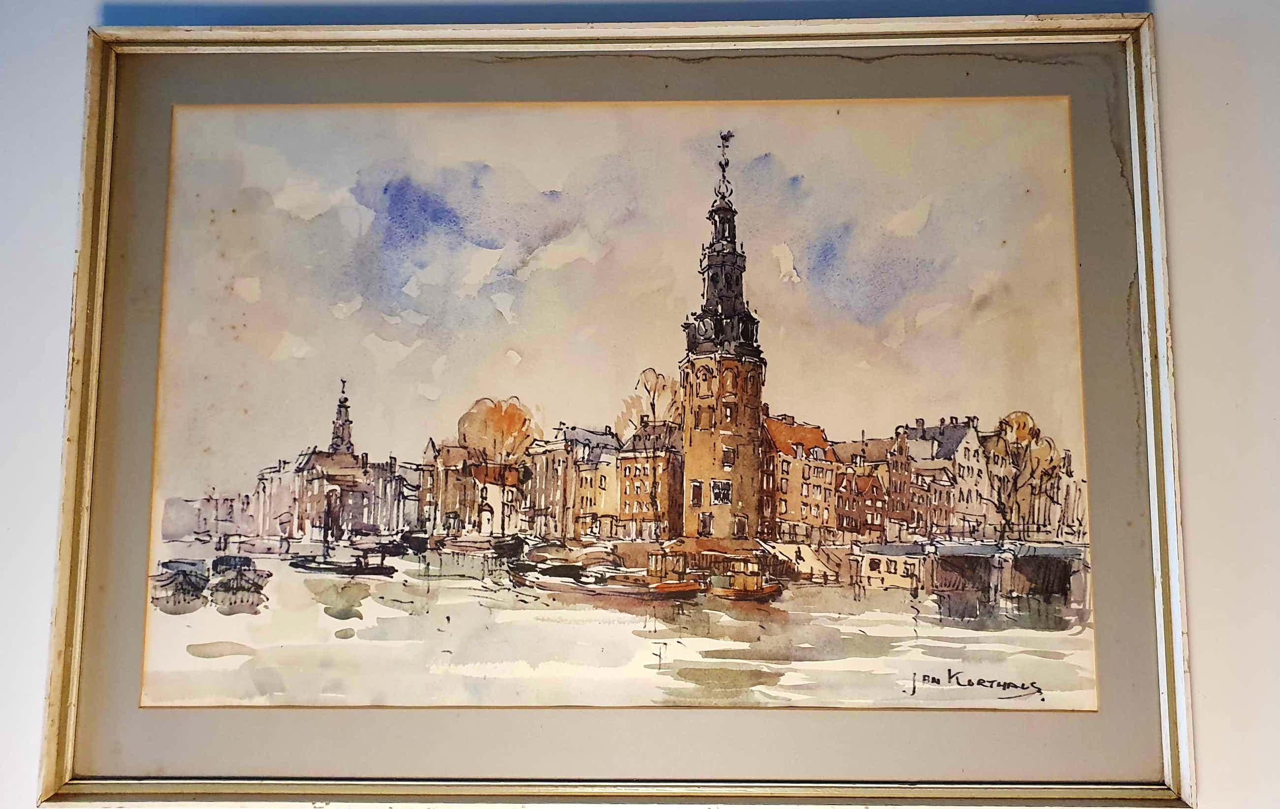 Jan Korthals - Oudeschans met Montelbaanstoren kopen? Bied vanaf 160!