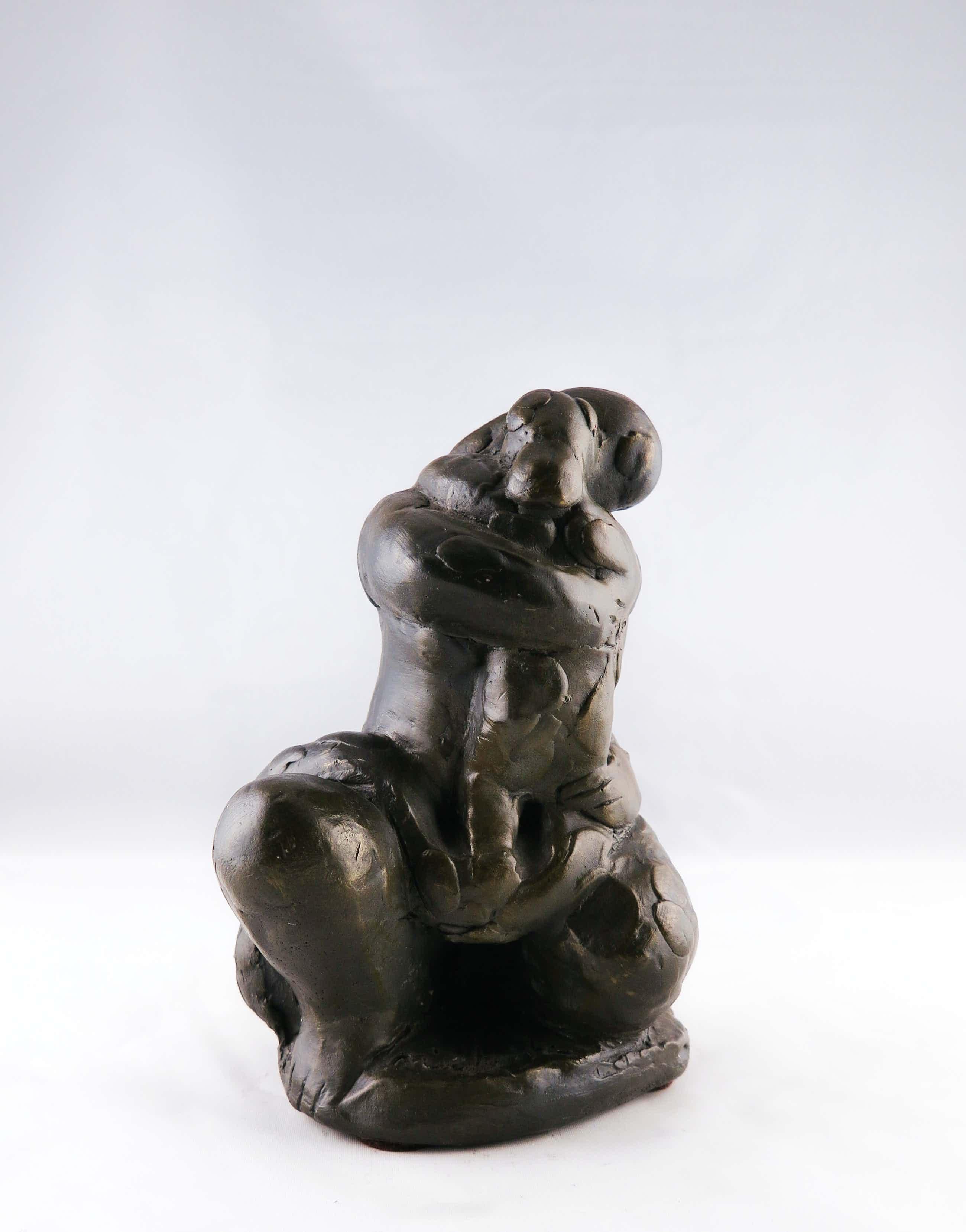 Nic Jonk - Gepatineerd aardewerk, Vrouw met kind kopen? Bied vanaf 150!