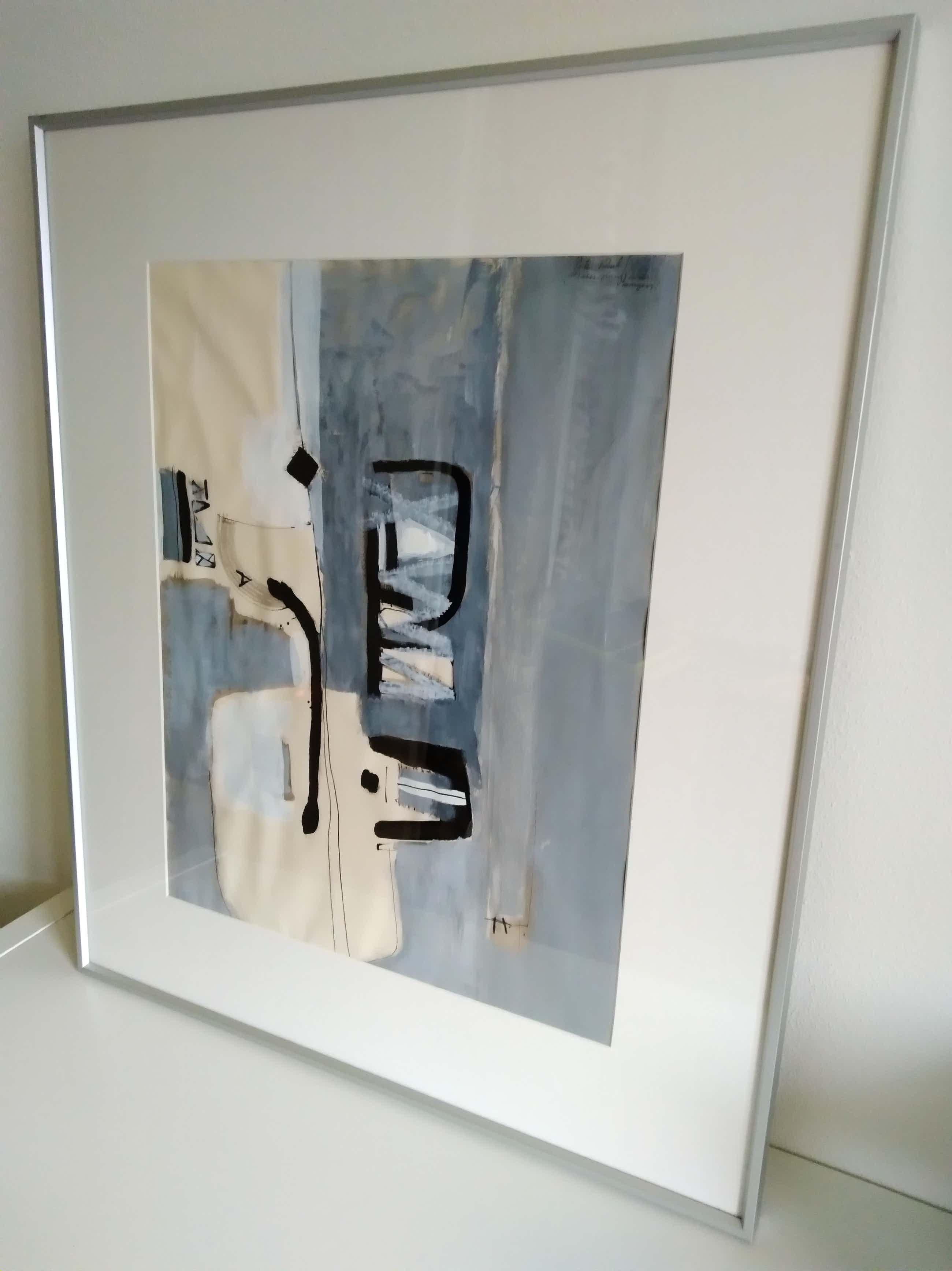 Peter Rolf - Gouache in kenmerkende abstract-expressionistische stijl kopen? Bied vanaf 49!
