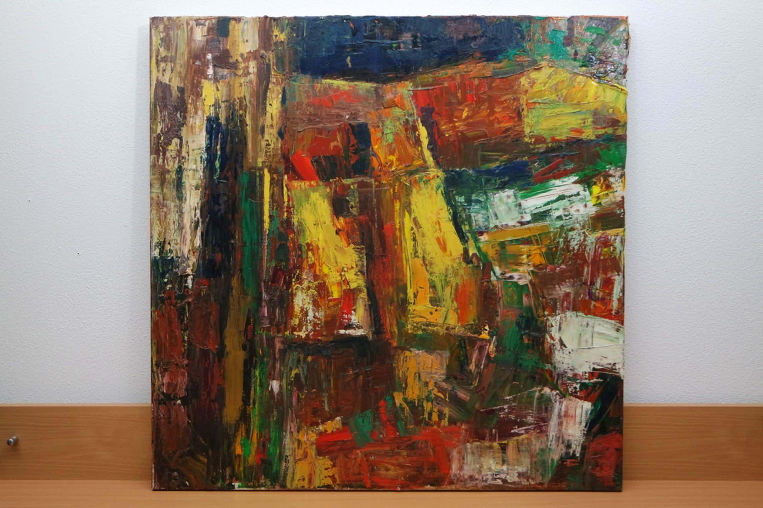Piet Middelhoek - Abstracte compositie kopen? Bied vanaf 136!