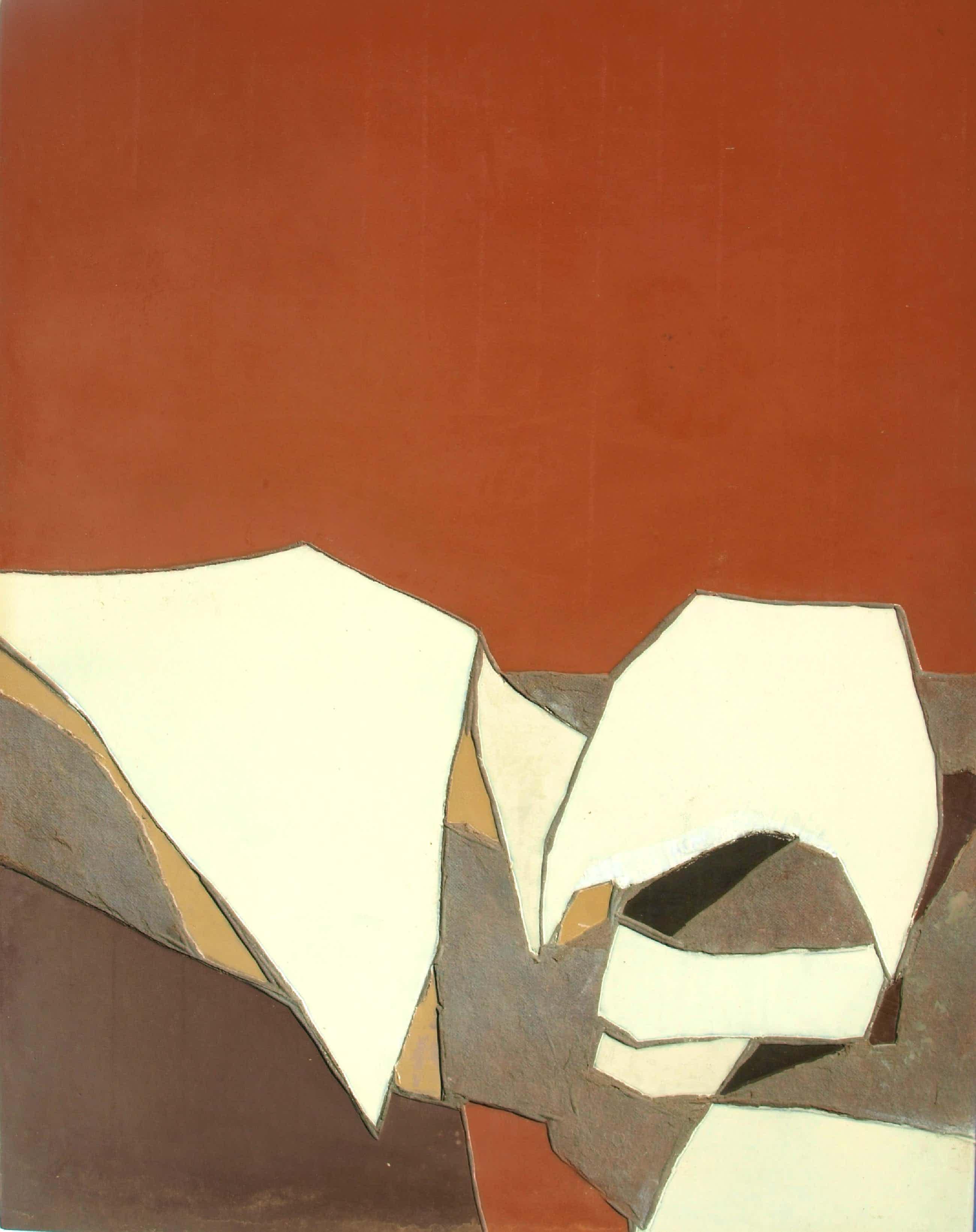 Fon Klement - Gemengde techniek op board (115 x 90 cm), Déploiement ('Inzet') – 1977 kopen? Bied vanaf 300!