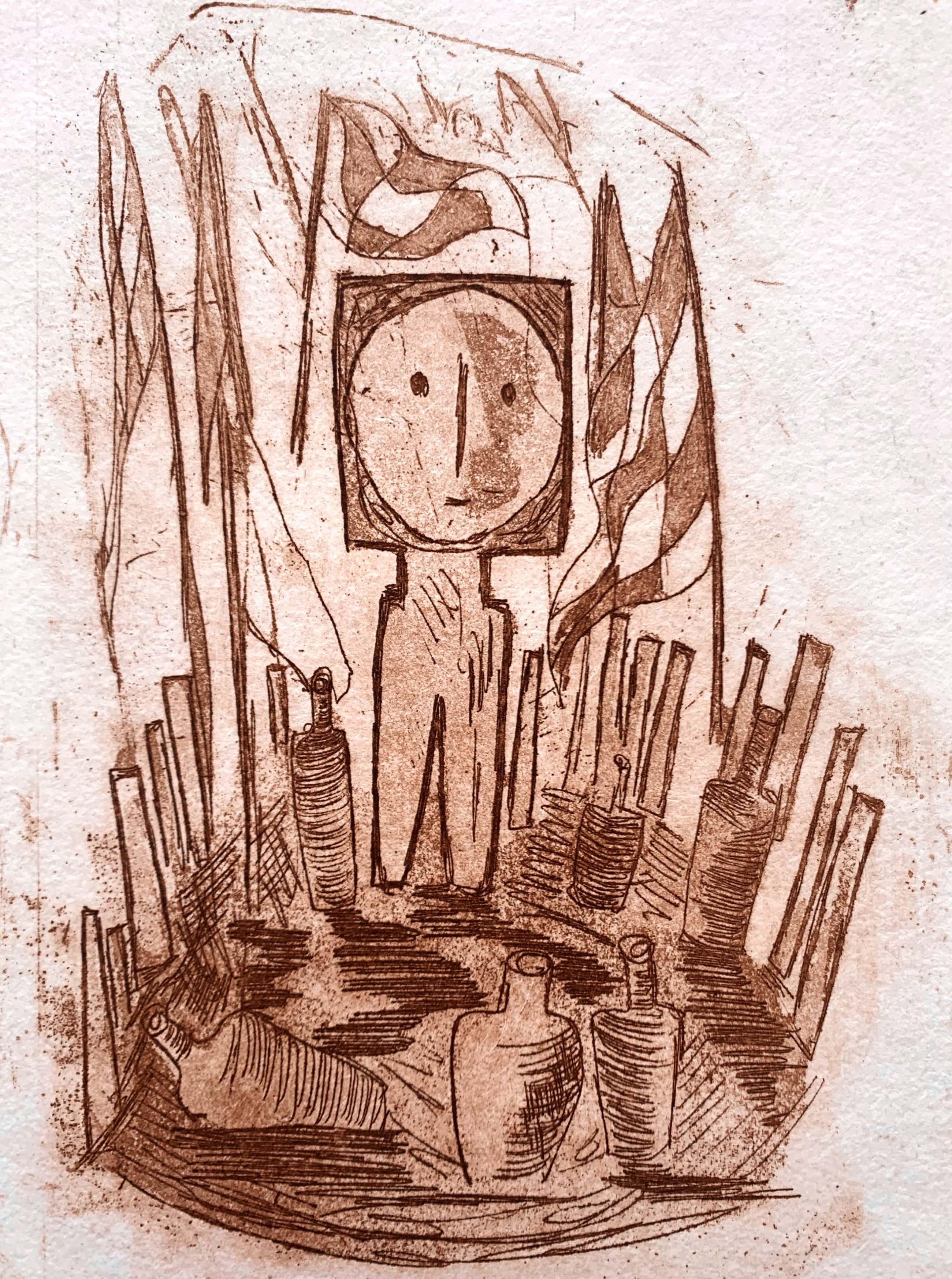John Lie a Fo - kleurenets - 'Place sacré' - 1996 kopen? Bied vanaf 60!