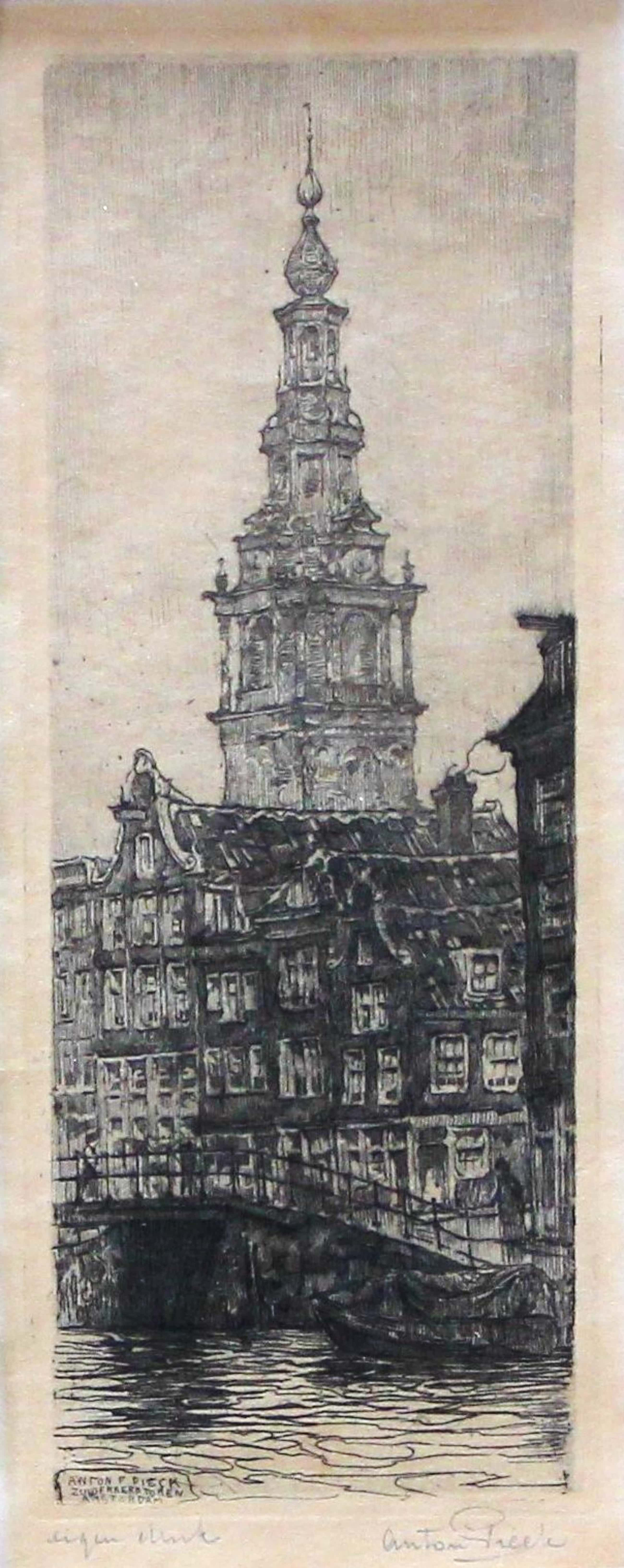 Anton Pieck - Zuiderkerk toren Amsterdam kopen? Bied vanaf 170!