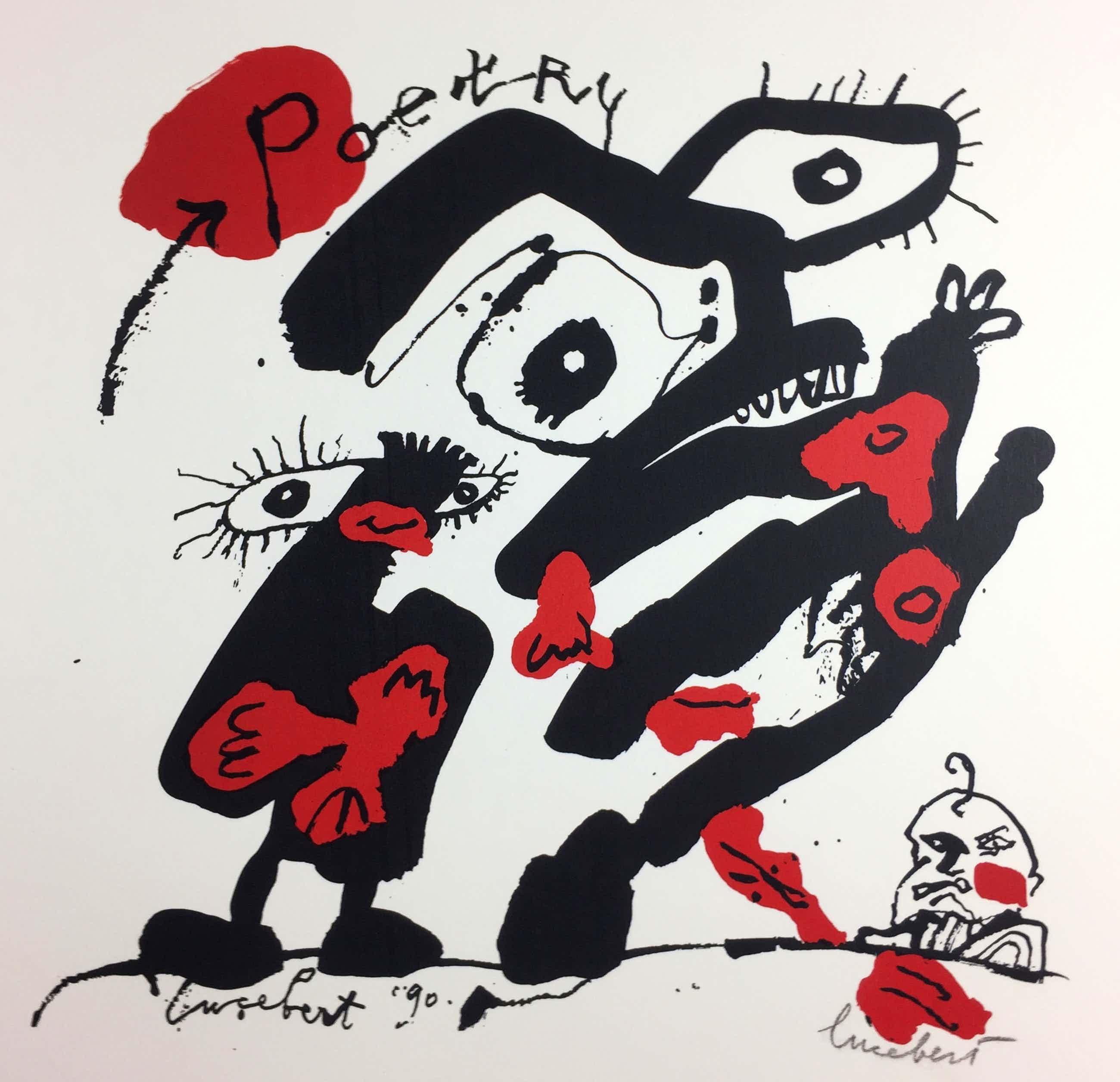 Lucebert - Lucebert /Remco Campert, zeefdruk, 'Poetry', 1990 kopen? Bied vanaf 275!