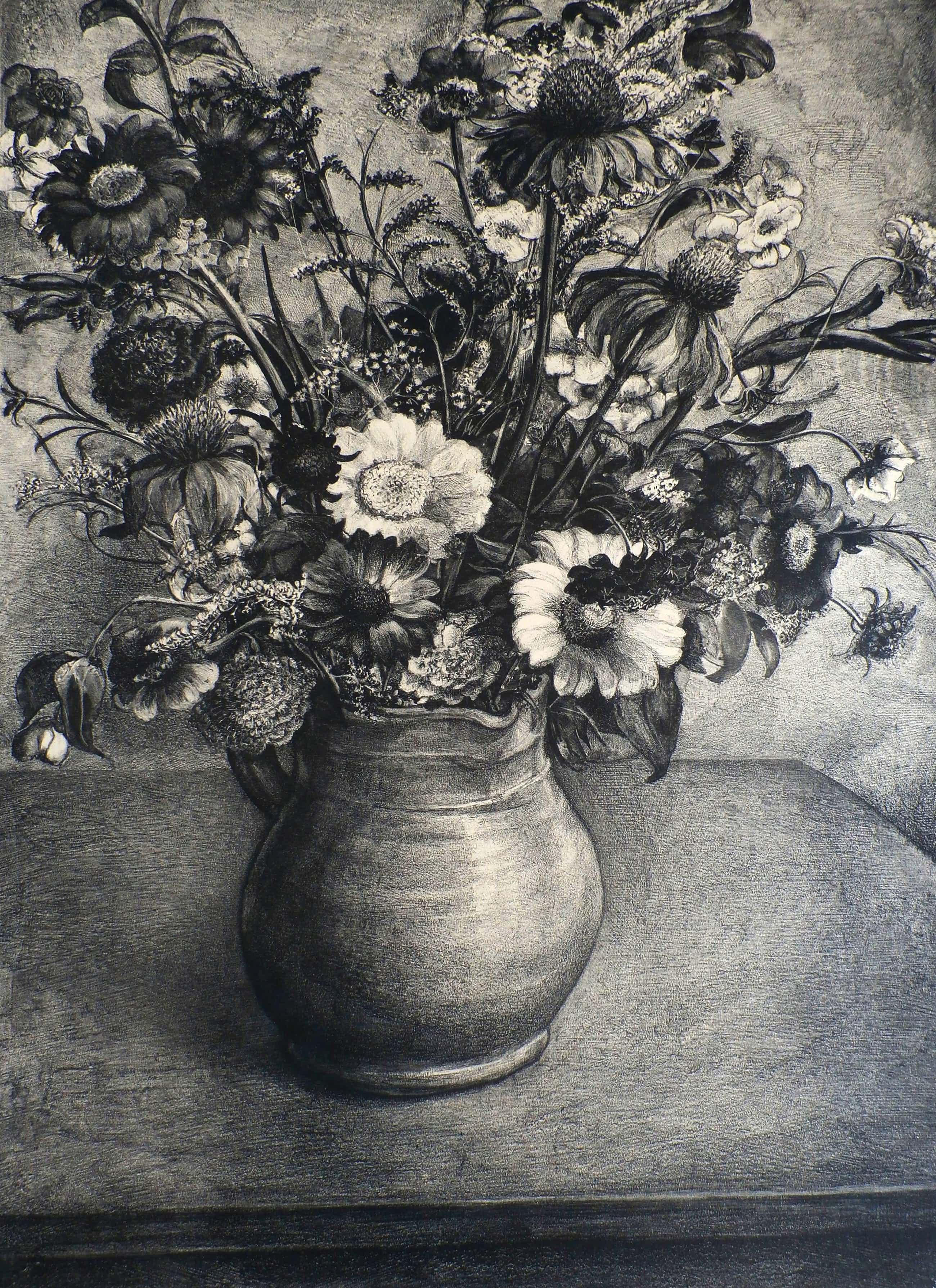 Aart van Dobbenburgh - Litho: Veldbloemen II - 1932 kopen? Bied vanaf 55!