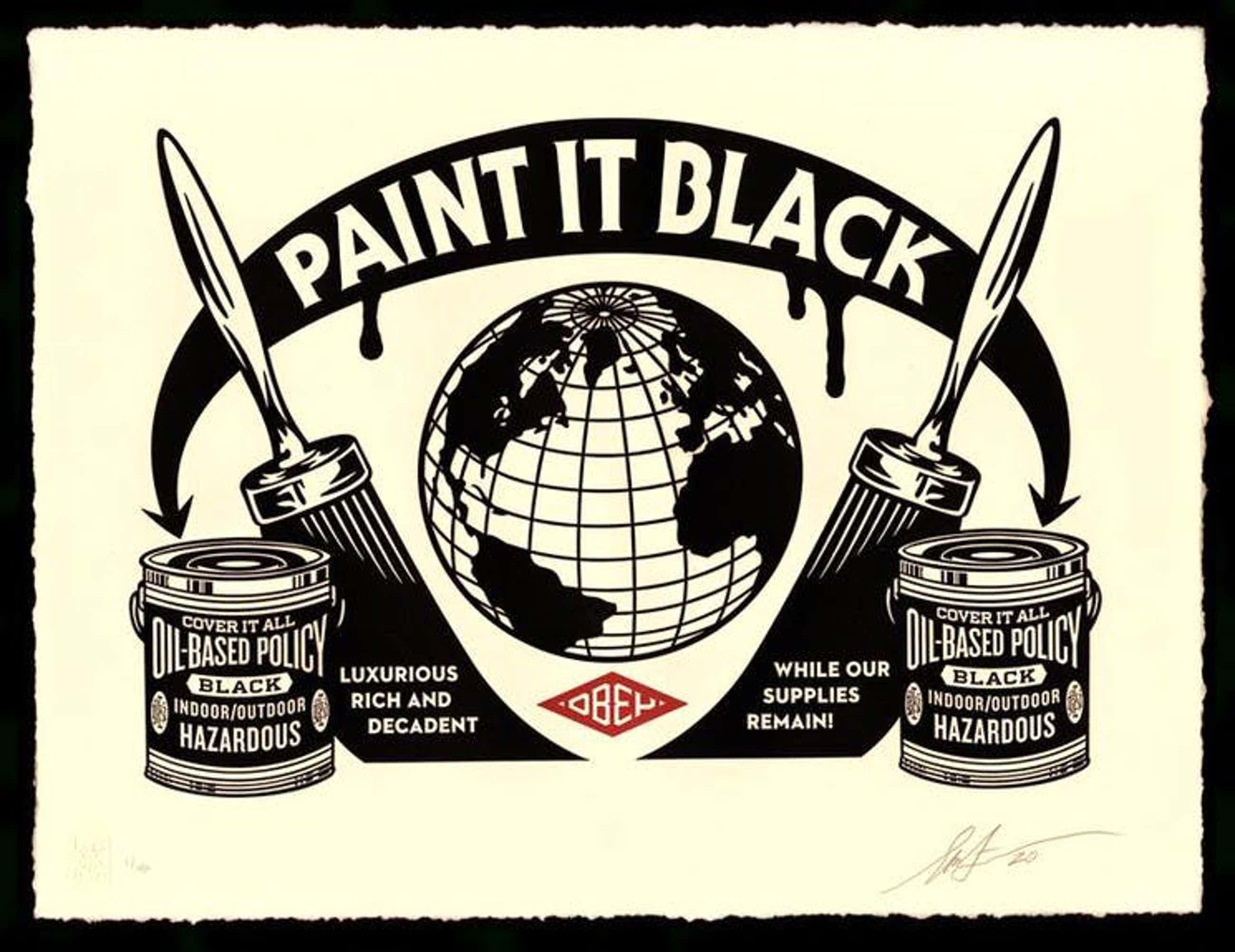 Shepard Fairey - Paint it Black kopen? Bied vanaf 345!