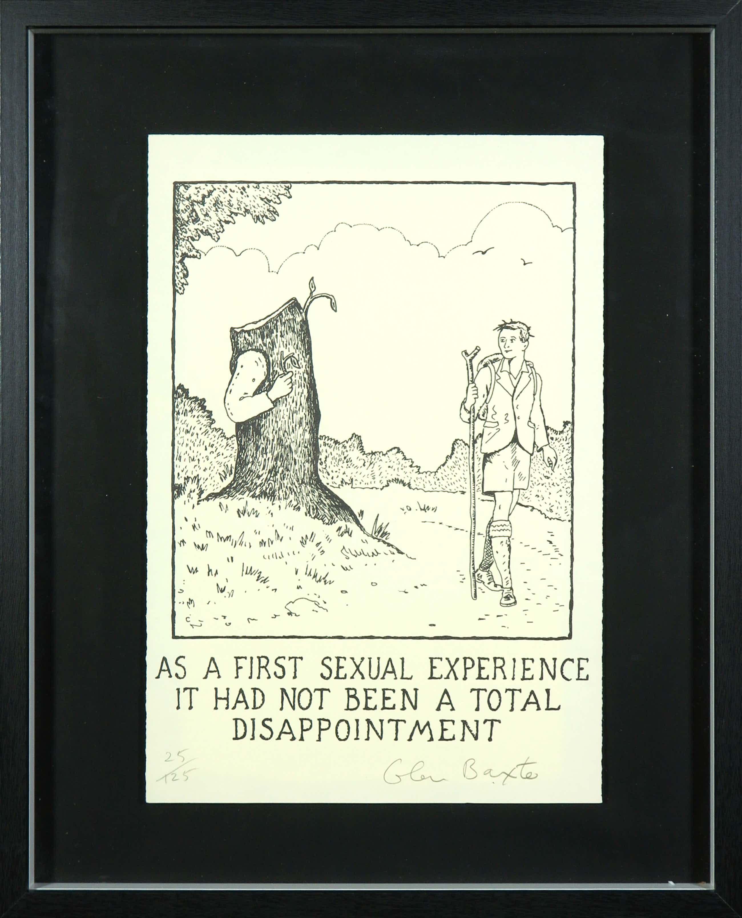 Glen Baxter - Litho, As a first sexual experience (...) - Ingelijst kopen? Bied vanaf 72!