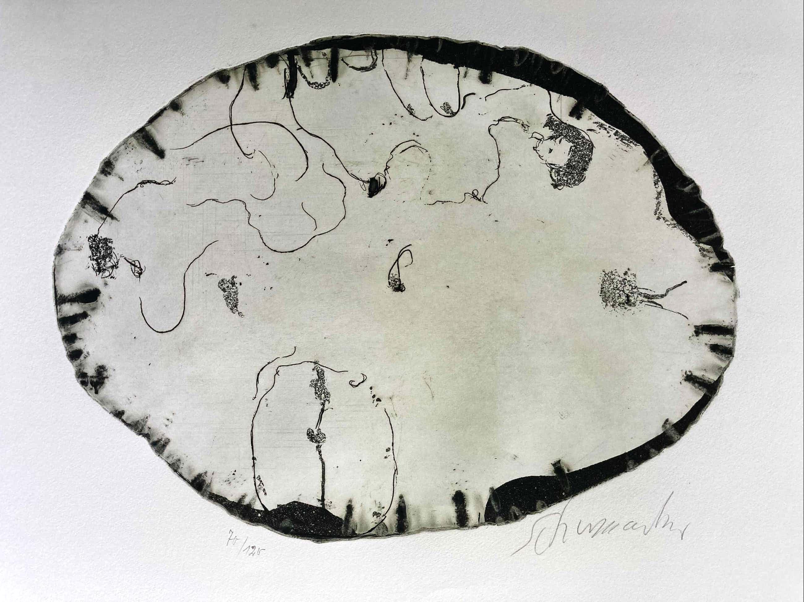 Emil Schumacher - Motiv 7/1967, signiert, nummeriert kopen? Bied vanaf 320!