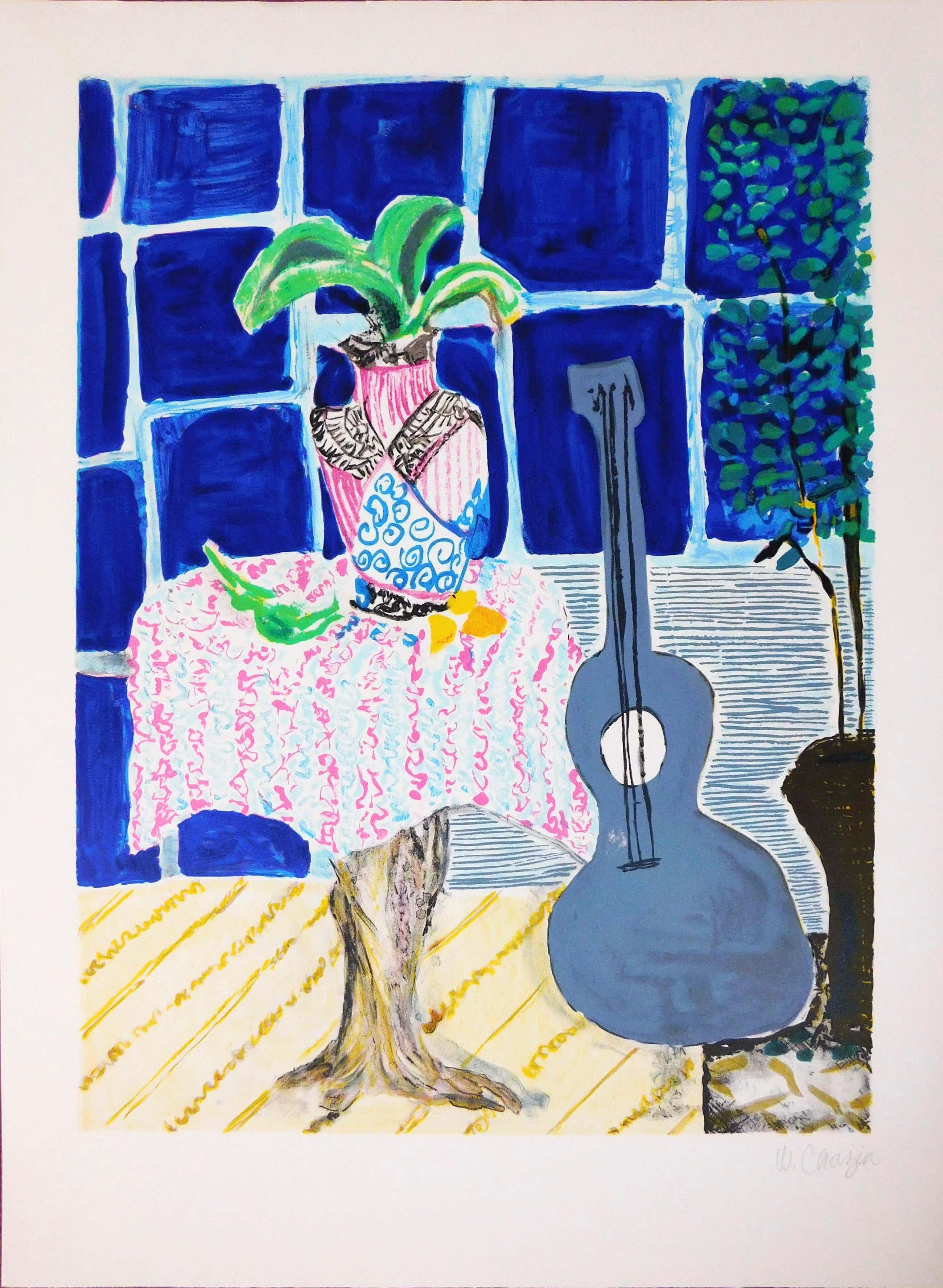 Wendy Chazin - Composition with Guitar and Vase kopen? Bied vanaf 35!