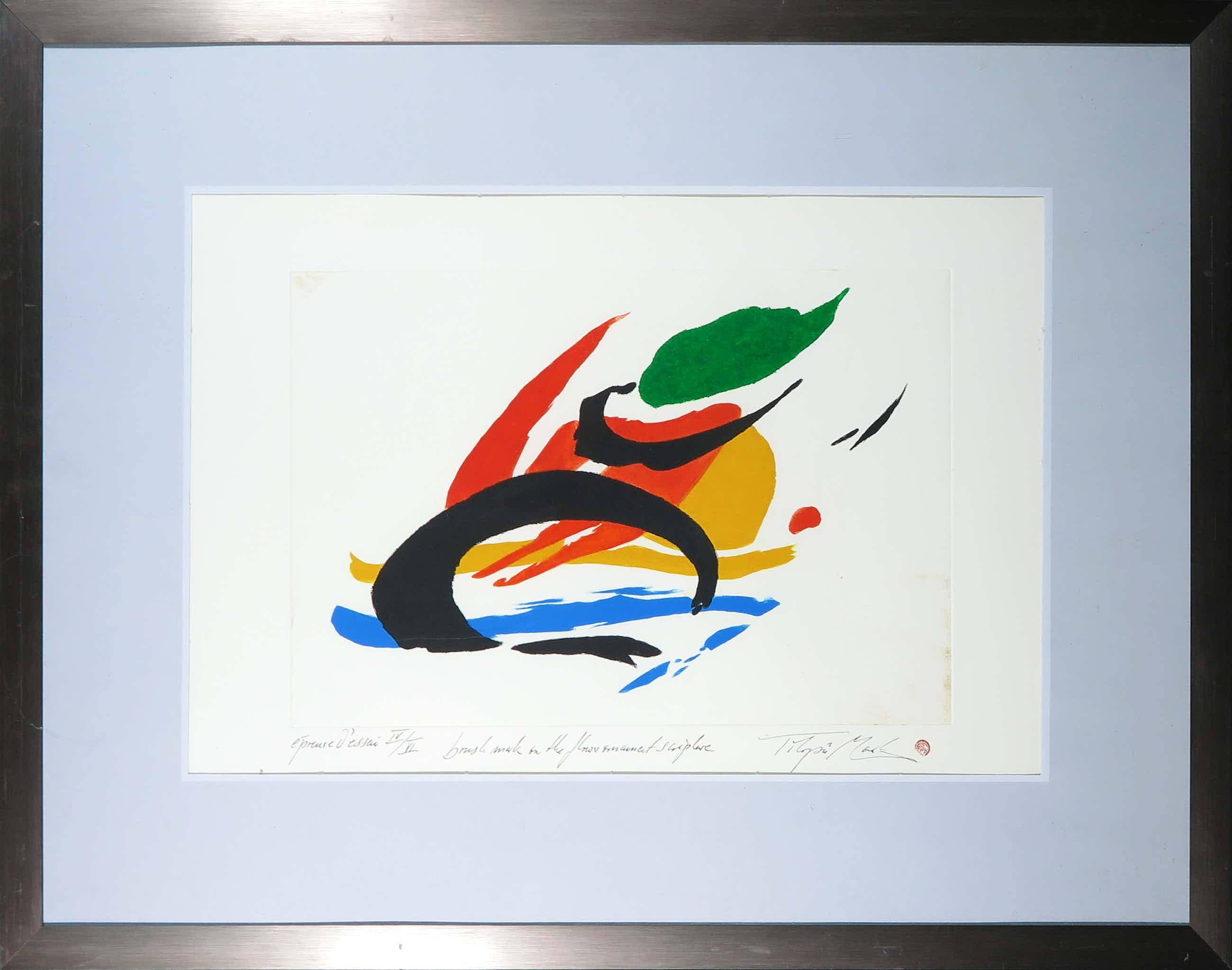 Tilopa Monk - Kleurenets, Abstracte compositie - Ingelijst kopen? Bied vanaf 40!
