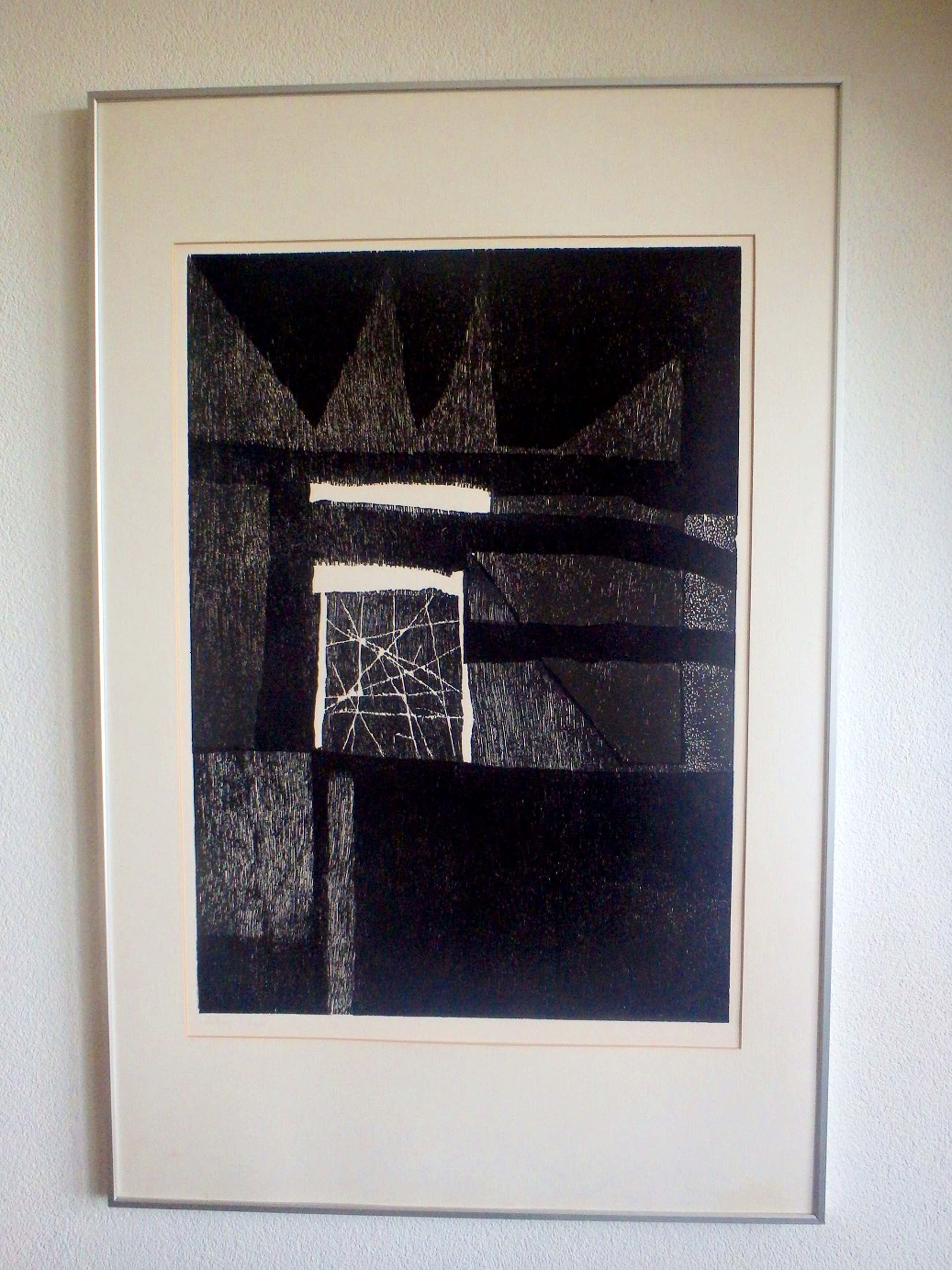 Guillaume Le Roy - Compositie in zwart-wit kopen? Bied vanaf 50!