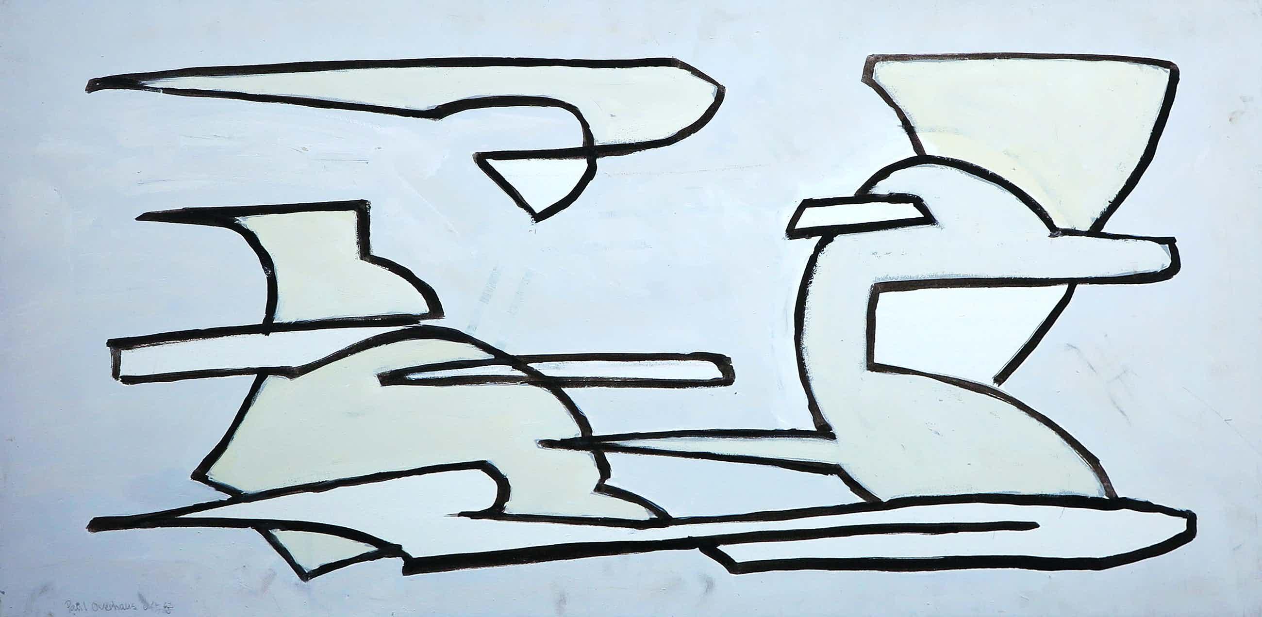 Paul Overhaus - Acryl op board, Zonder titel (Groot) kopen? Bied vanaf 60!